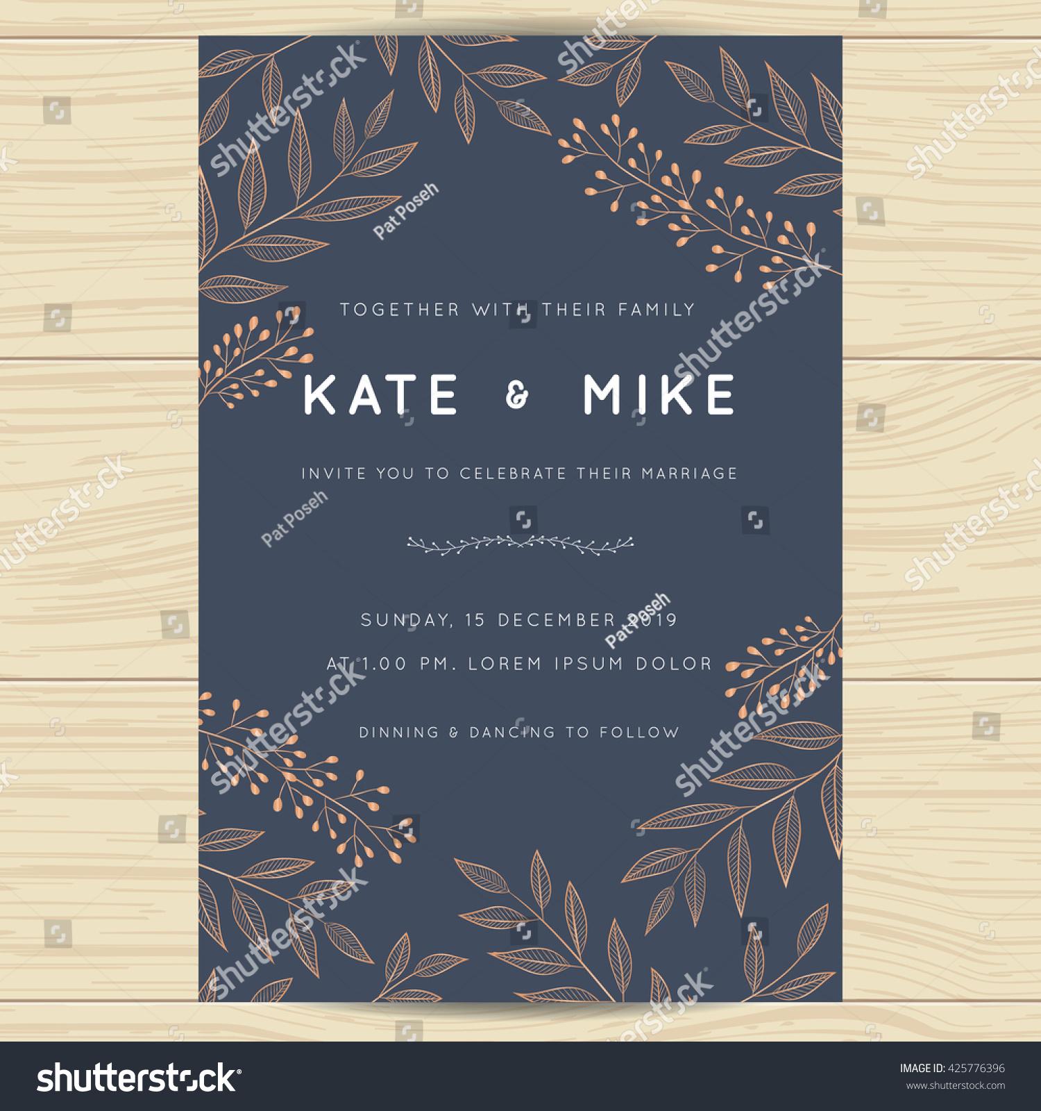 save date wedding invitation card template のベクター画像素材