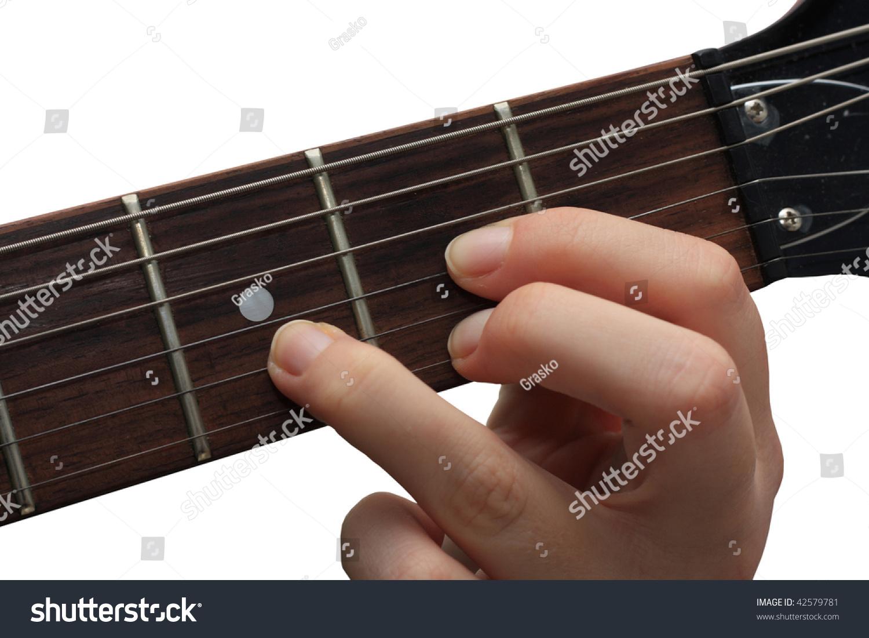 Guitarist Holding D Chord Stock Photo Edit Now 42579781 Shutterstock