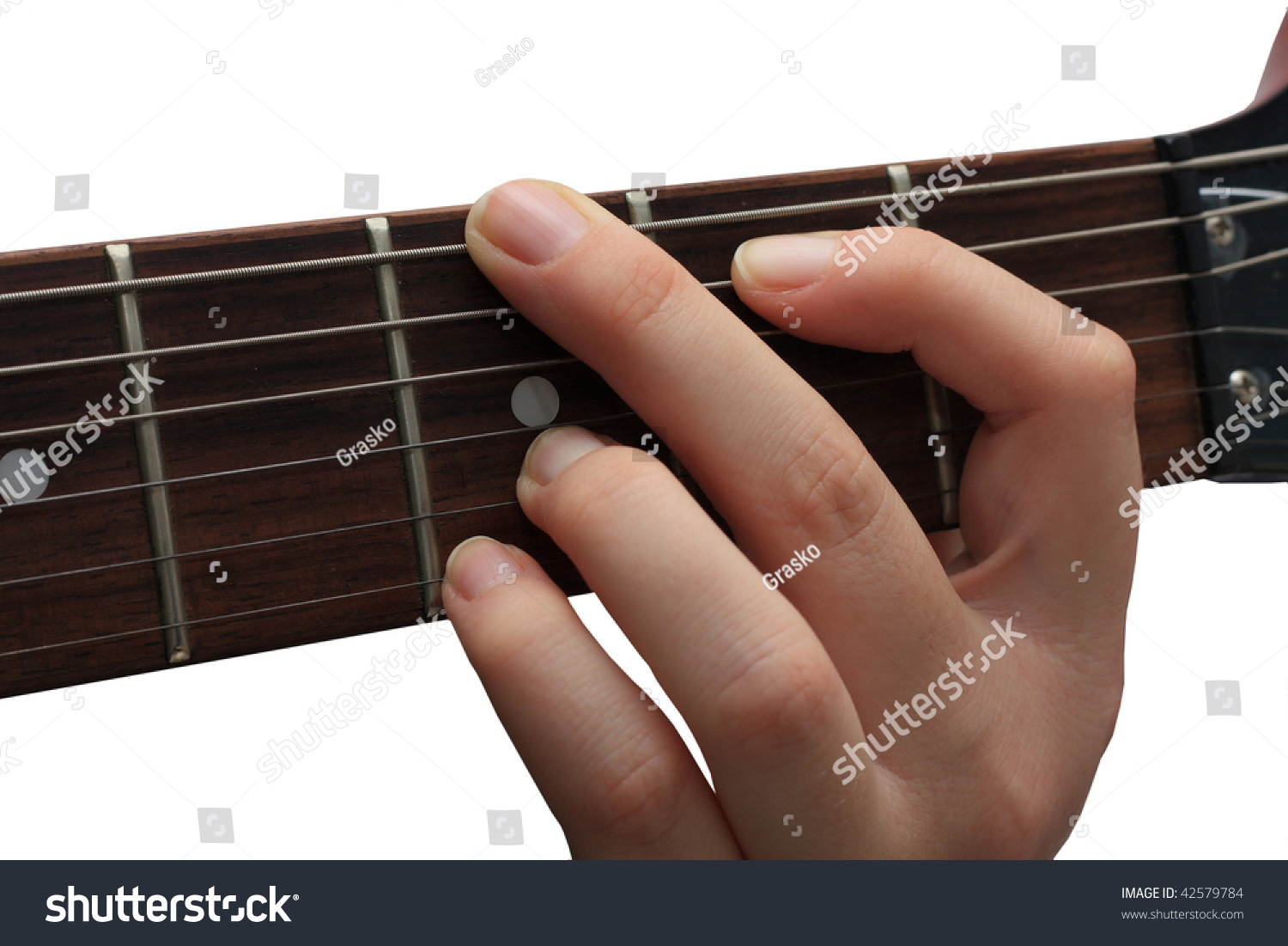 Guitarist Holding G Chord Stock Photo Edit Now 42579784 Shutterstock