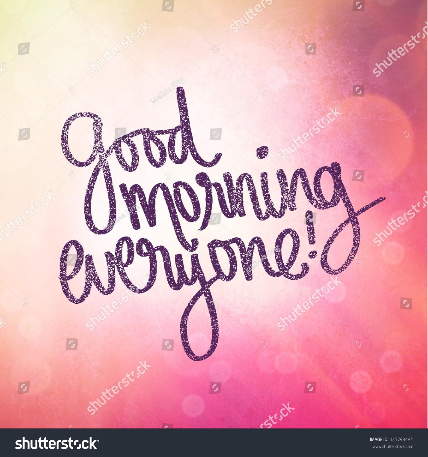 Good Morning Everyone In Español : Good morning everybody in spanish impremedia