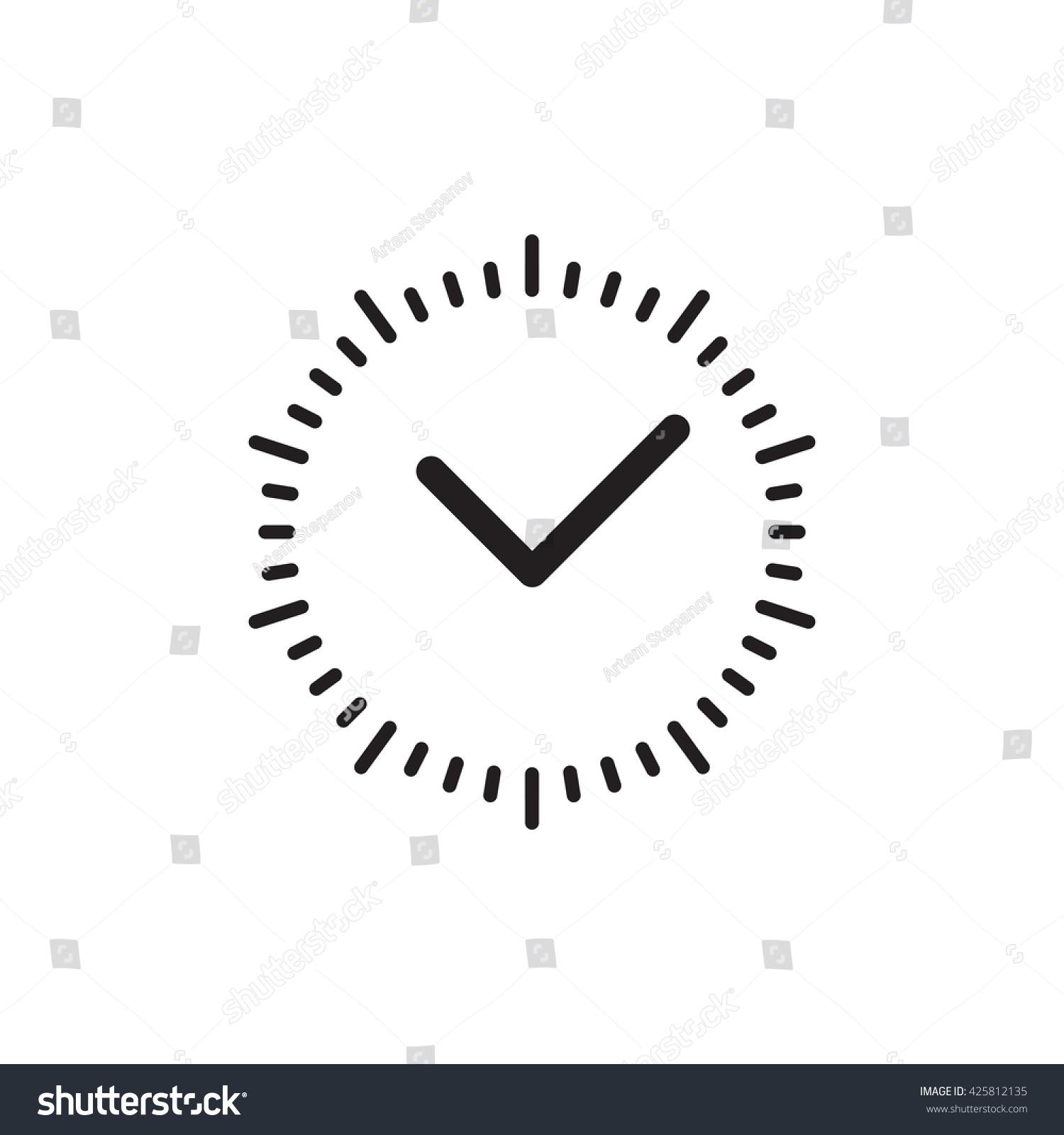 Vector Time Clock Icon Logo Template Stock Vector ...