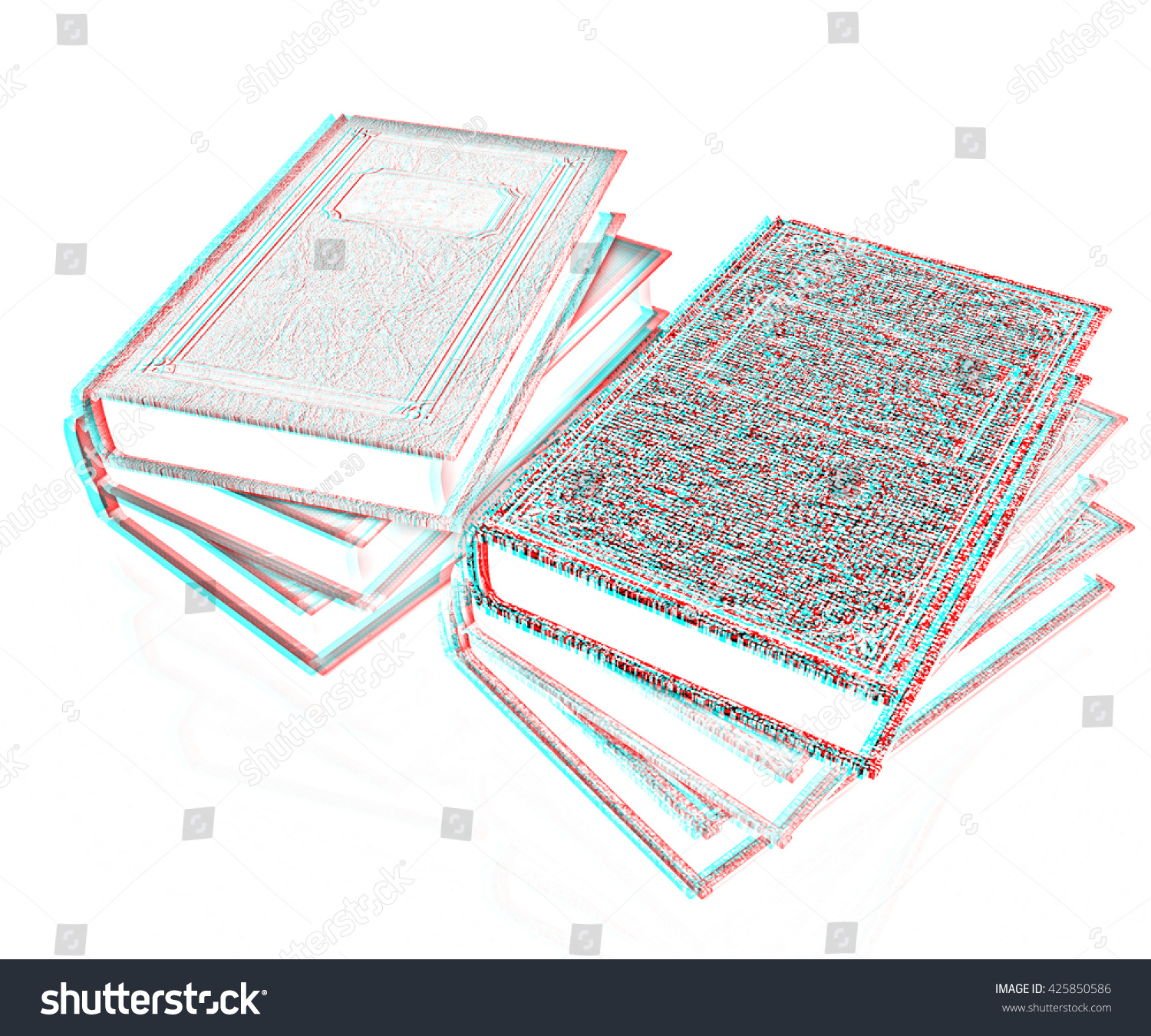 The stack of books on a white background pencil drawing ez canvas