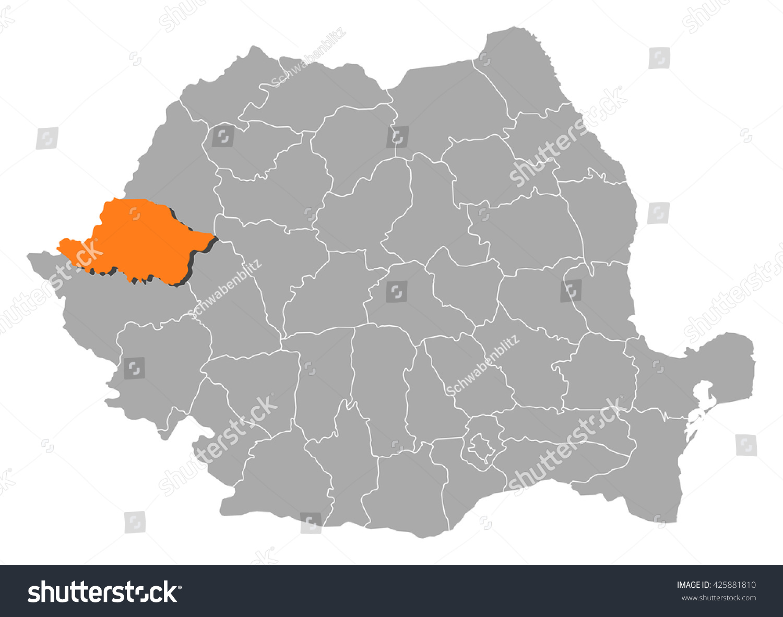 Map Romania Arad Stock Vector 425881810 Shutterstock