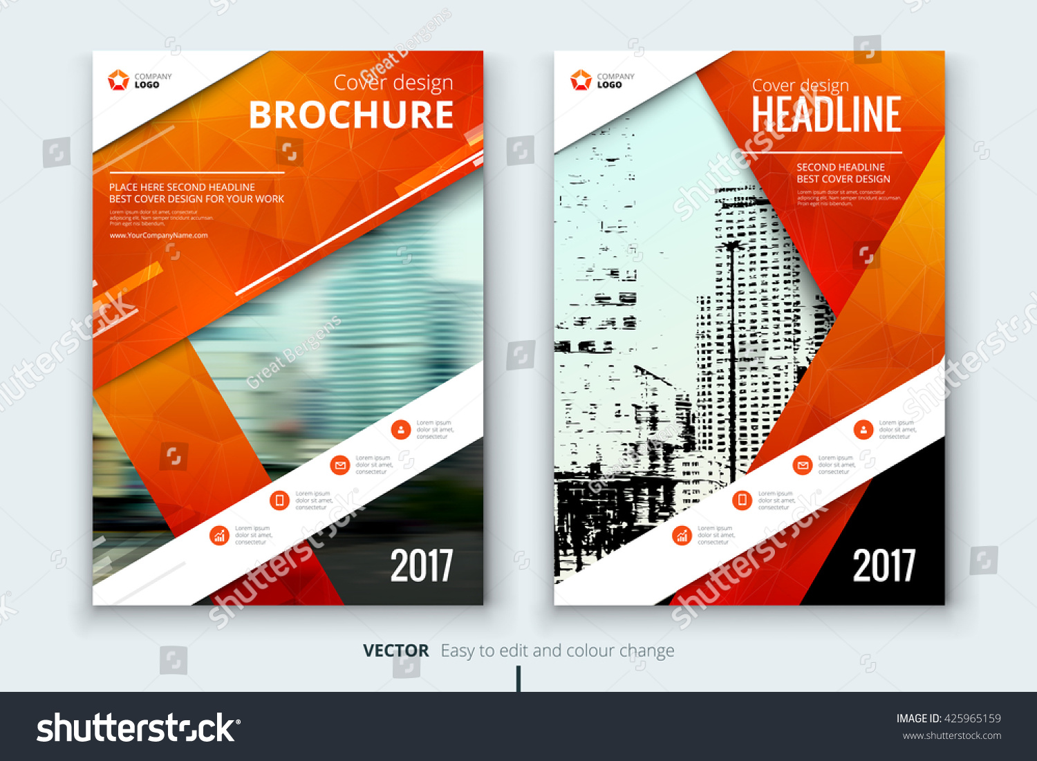 Cover Book Brochure Layout Vector ~ Cover design annual report catalog magazine stock vector