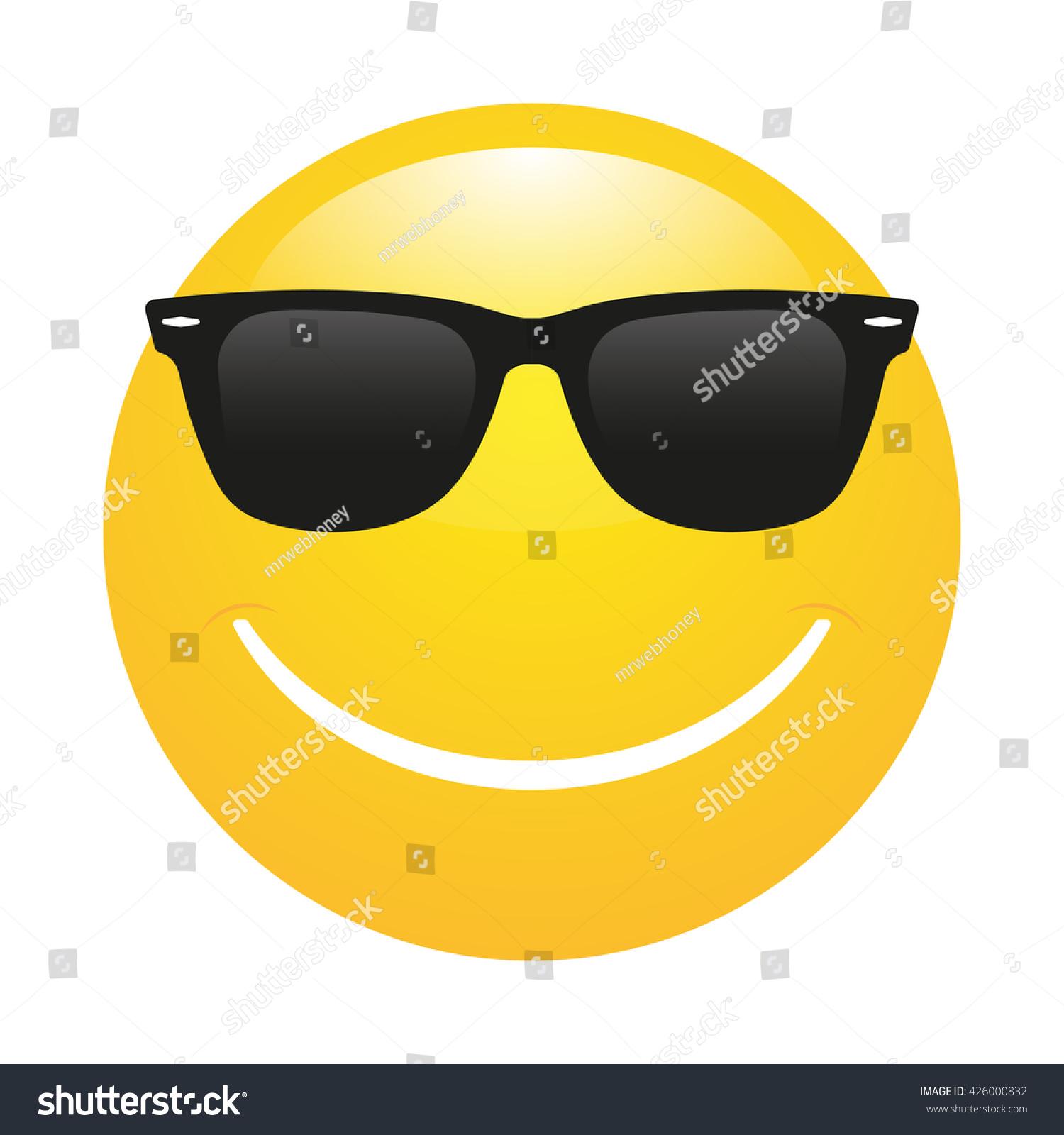 Smiley emoticon in sunglasses