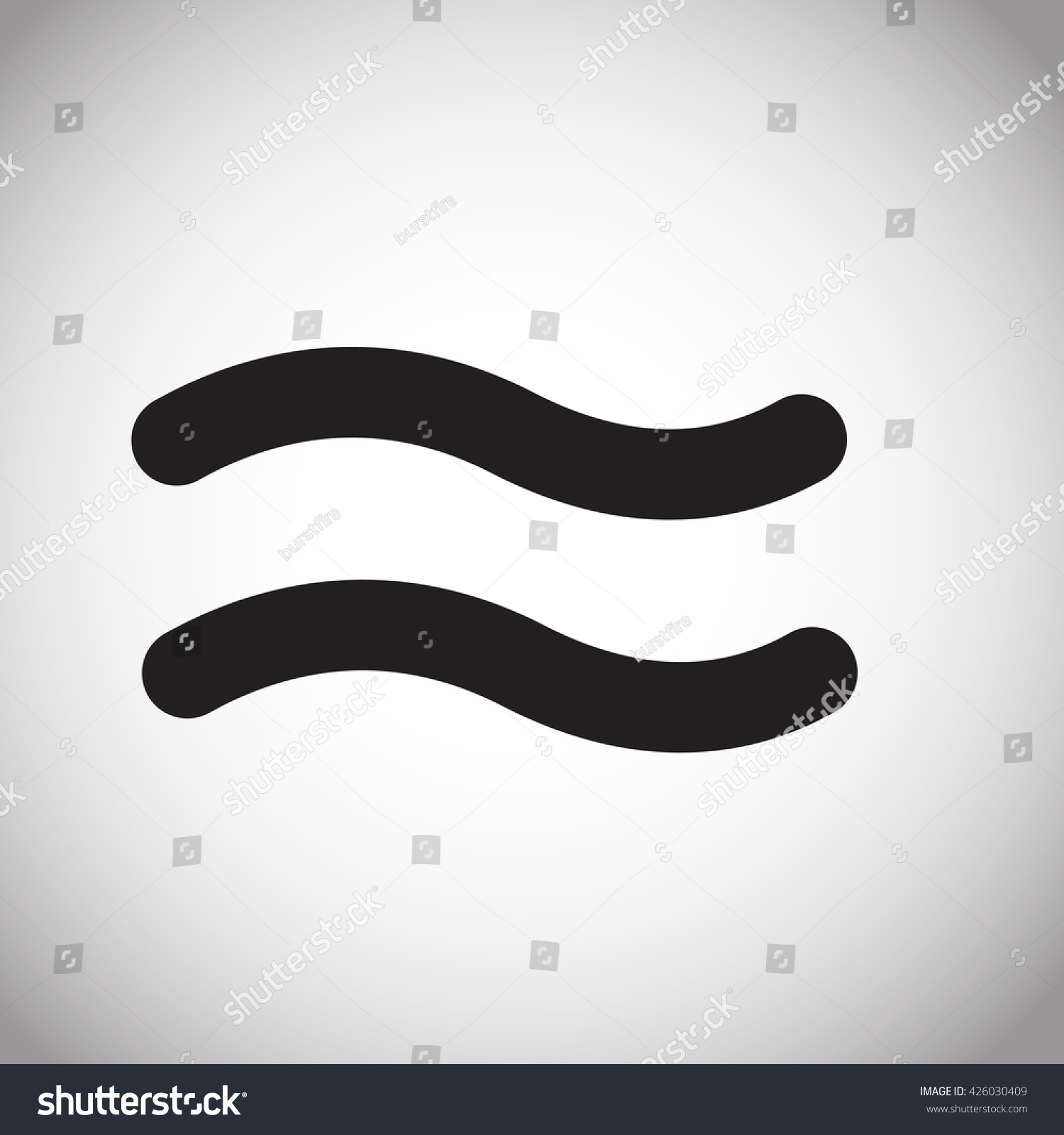 Approximately Equal Symbol Sign Icon Gray Stock Illustration