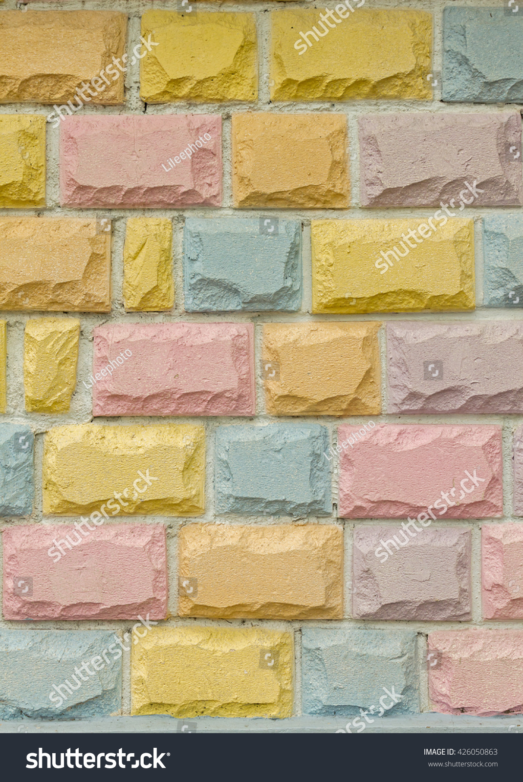 Royalty-free Stone brick wall background, pastel… #426050863 Stock ...