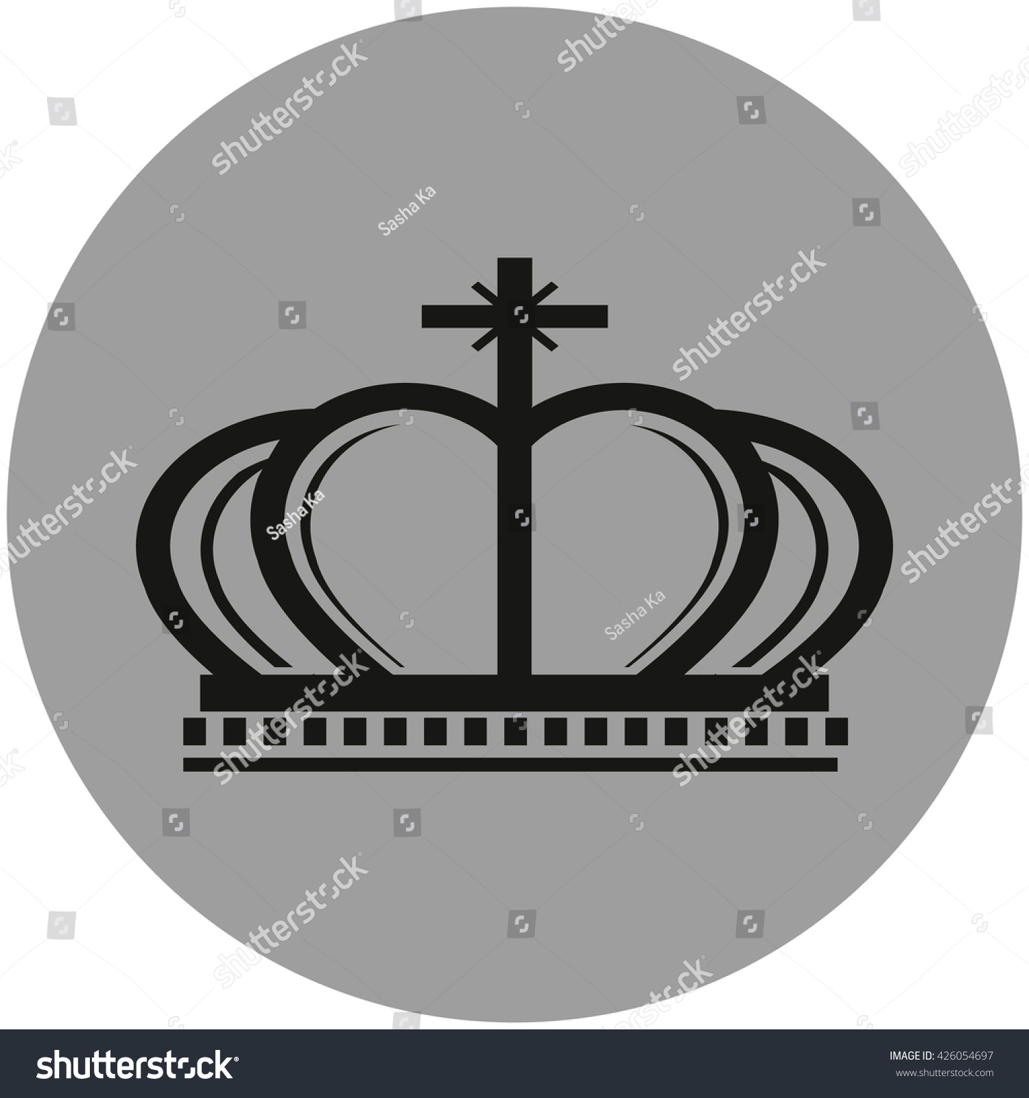 Crown Sign Icon King Hat Symbol Stock Vector Royalty Free