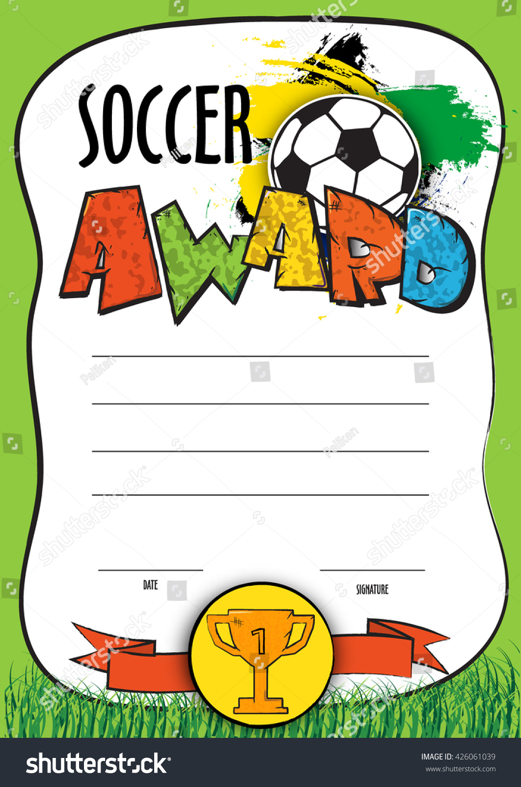 Soccer certificate template explore christina johnsons board awards certificates on pinterest soccer certificate of most valuable player certificate award template xflitez Choice Image