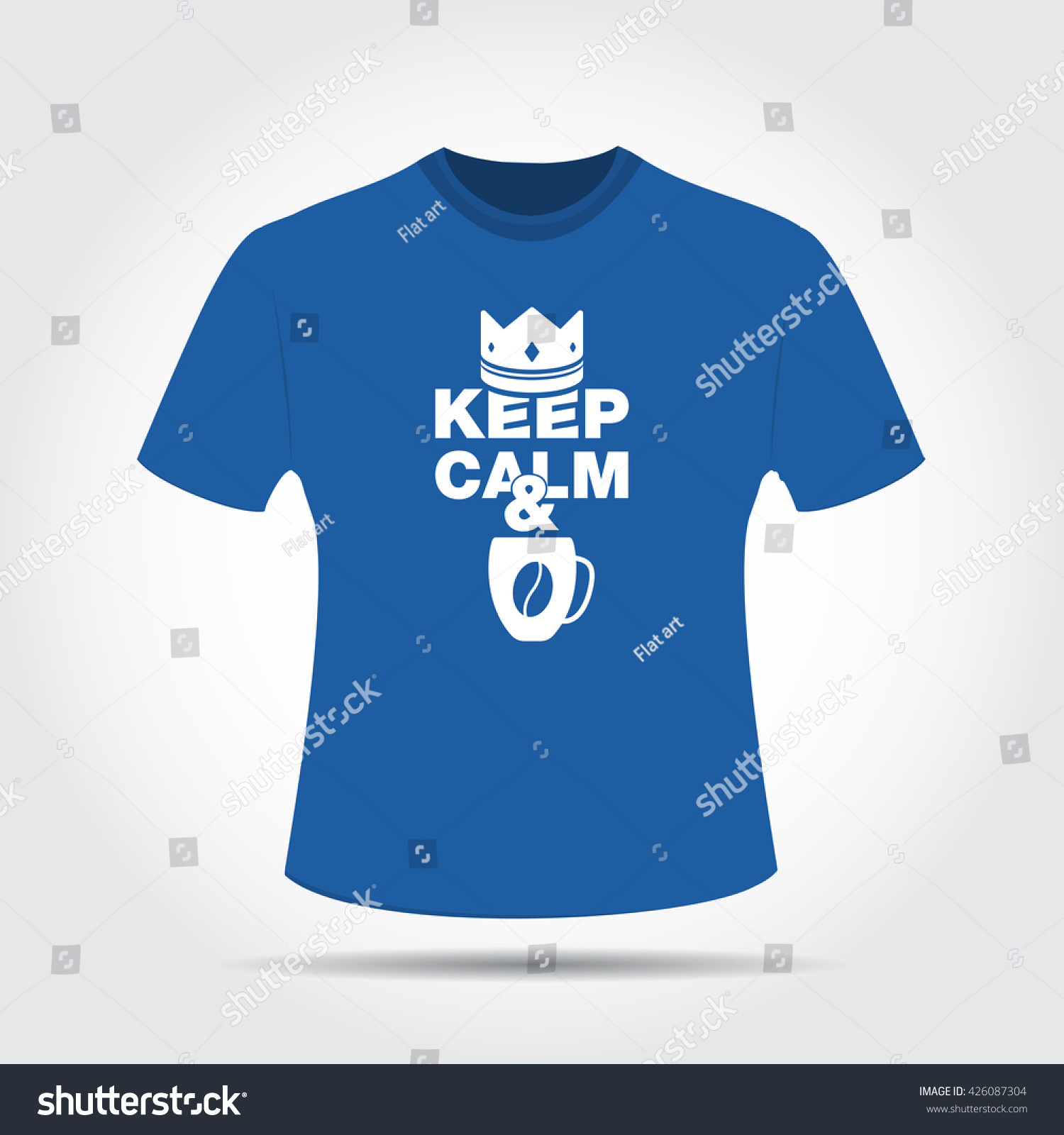 Tshirt Design Keep Calm Drink Coffee Stock Vector Royalty Free