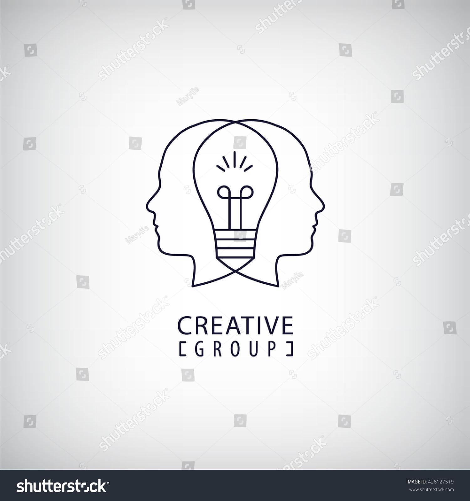 Vector Creative Mind Logo Creative Group Stock Vector
