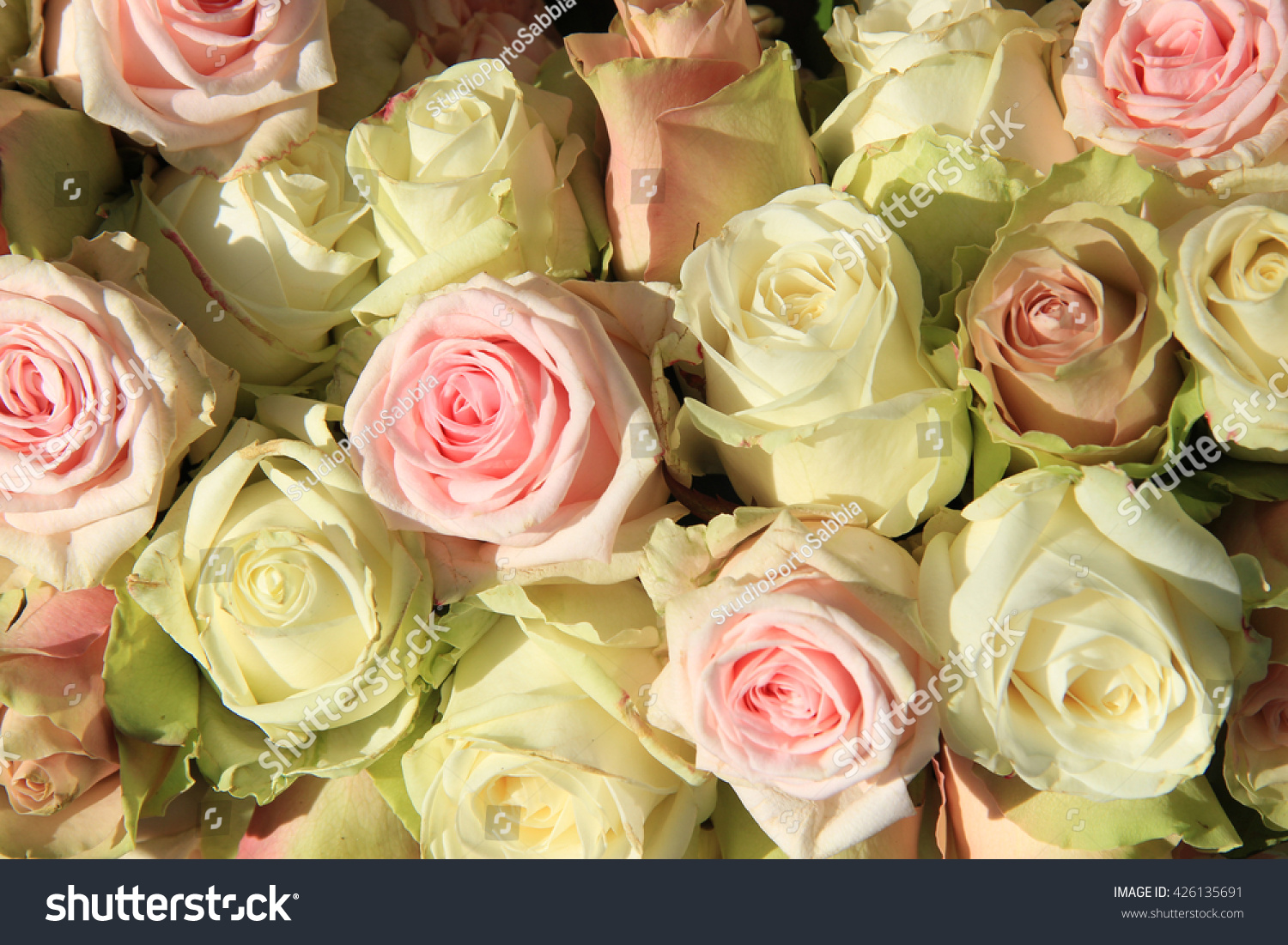 Pastel Wedding Bouquet In Various Shades Of Pink And White Ez Canvas