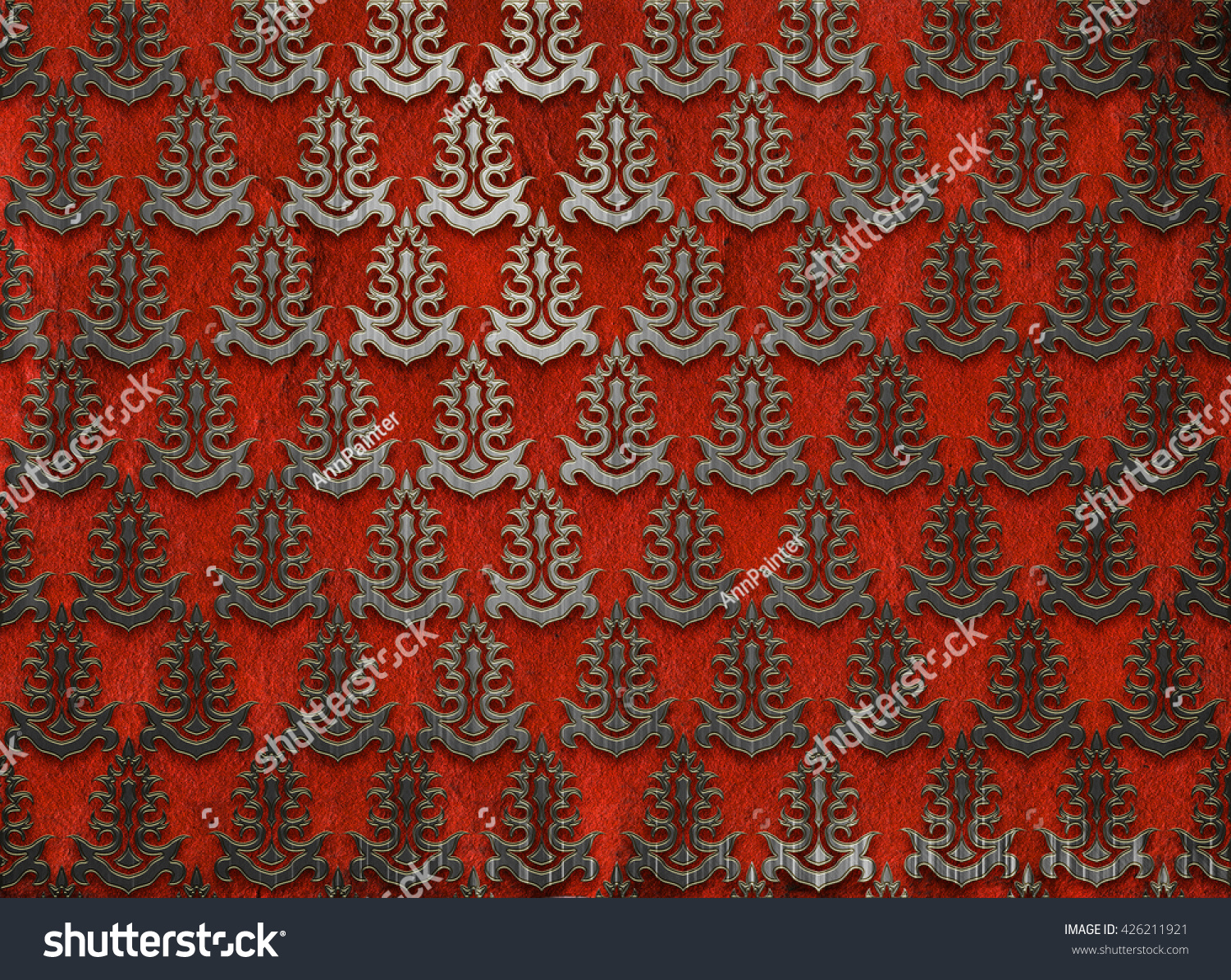 Paper Card Floral Damask Pattern Wedding Stock Illustration ...