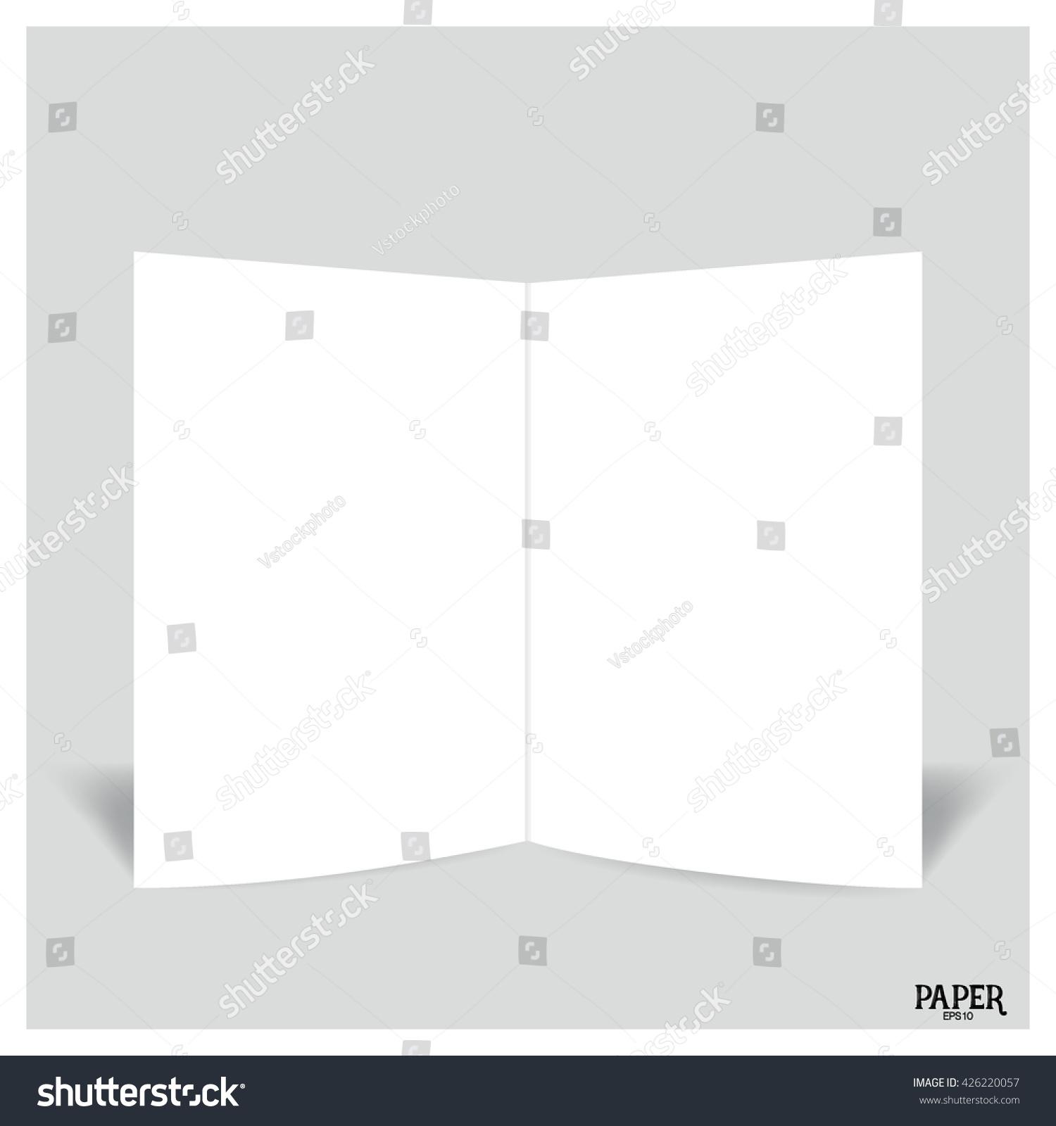 blank two leaf brochures blank bifold paper brochure mockup vector