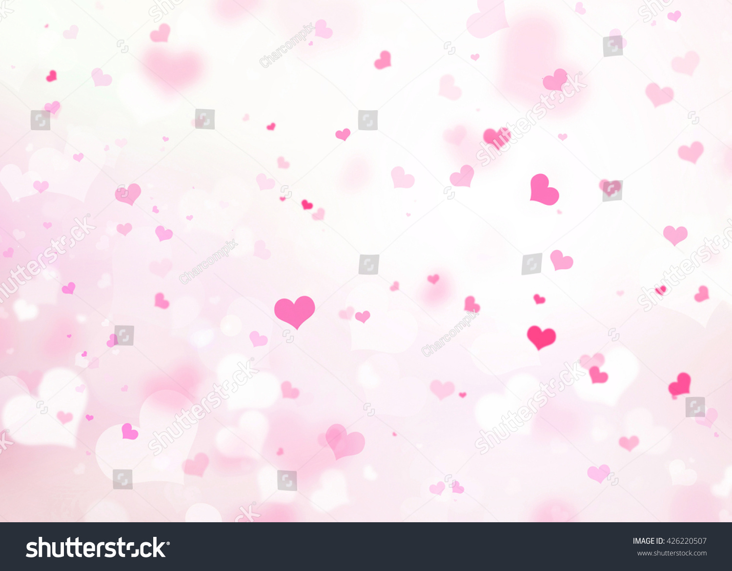 White Heart Valentines Day Abstract Pink Background