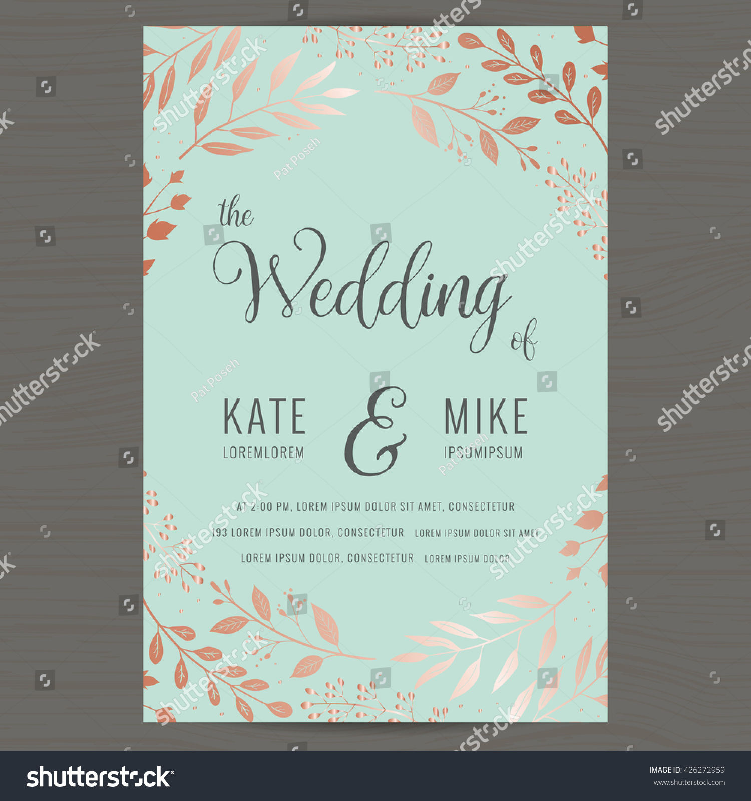 save date wedding invitation card template vectores en stock 426272959 shutterstock. Black Bedroom Furniture Sets. Home Design Ideas