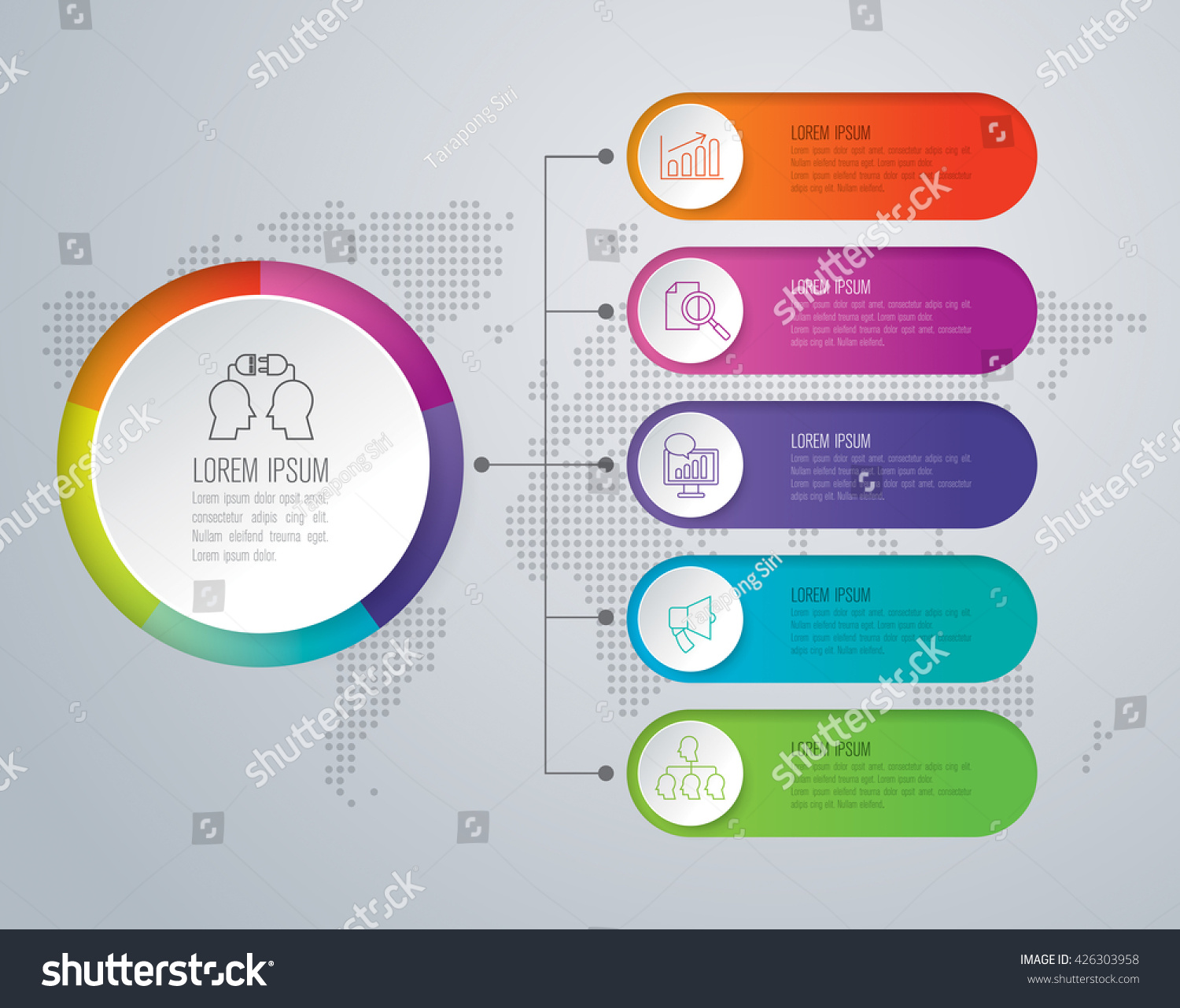 Infographic Design Vector Marketing Icons Can Stock Vector ...