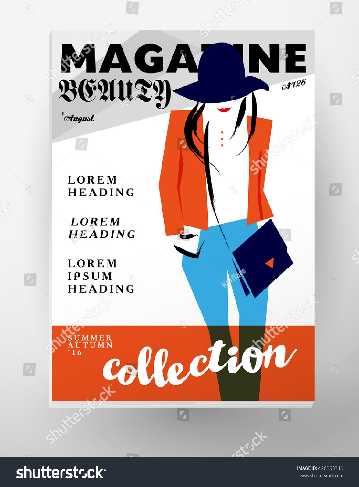 Fashion Cards Template. Beauty Invitation, Leaflet, Poster, Placard,  Banner, Advertising  Fashion Poster Design