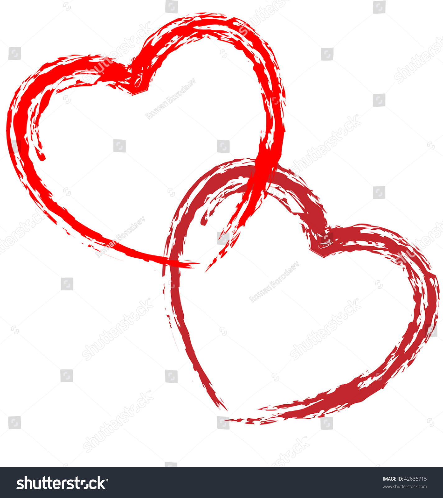 heart outline vector sketch draw paint stock vector