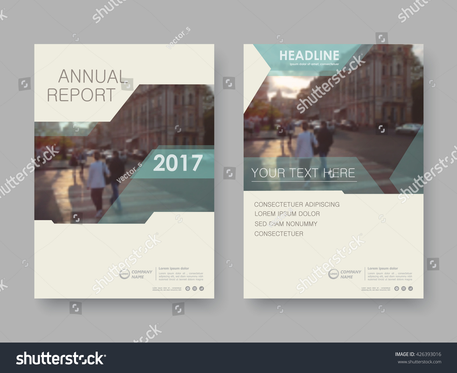 Annual Report Flyer Presentation Brochure Front Stock Vector - Presentation cover page template