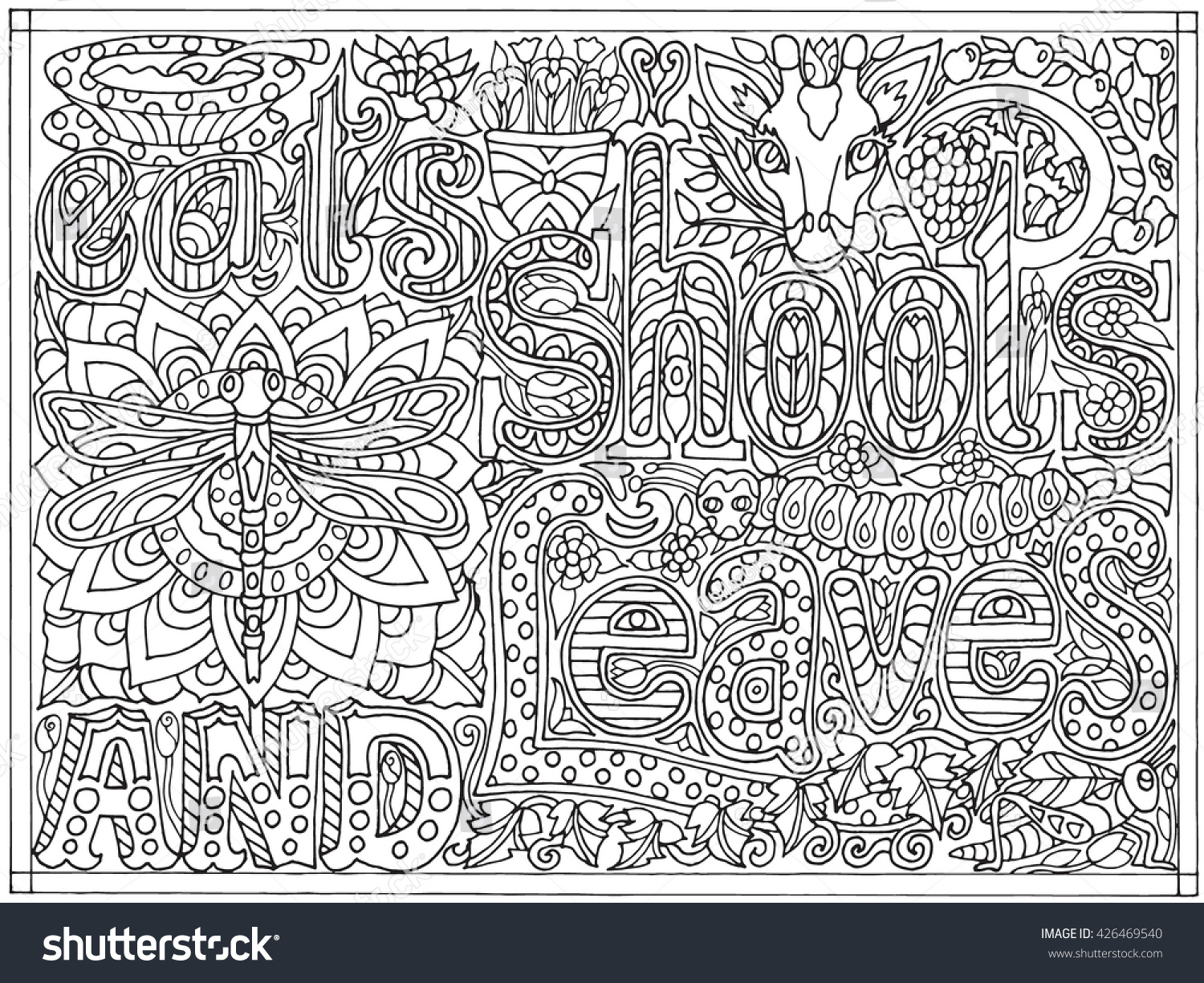 The coloring book poster - Save To A Lightbox