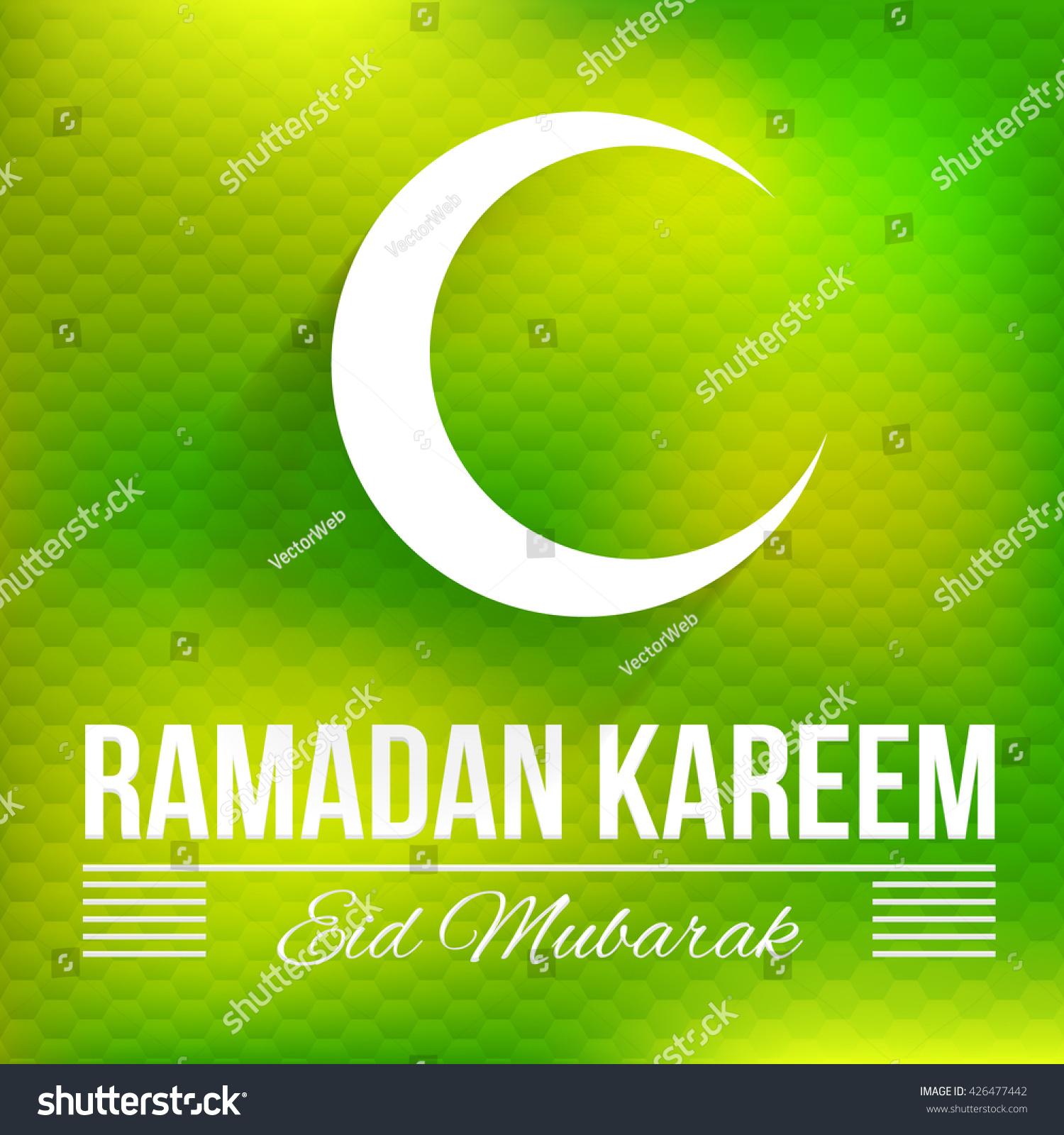 Islamic style decorative crescent moon symbol stock vector islamic style decorative crescent moon symbol ramadan greeting card design hexagon elements polygonal blurred biocorpaavc Gallery