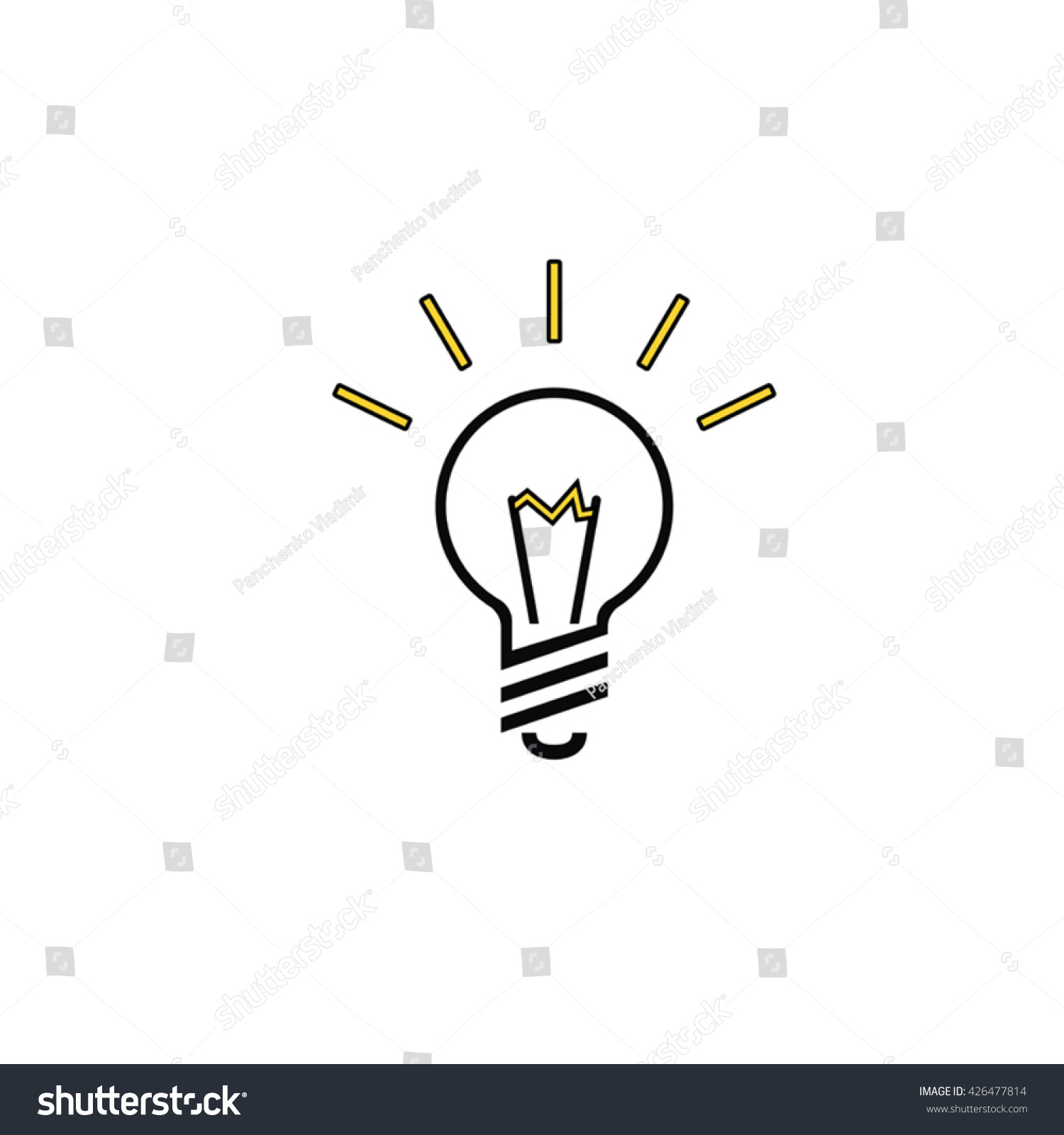 Lightbulb Vector Eps 10 Icon Led Stock Vector 426477814 - Shutterstock