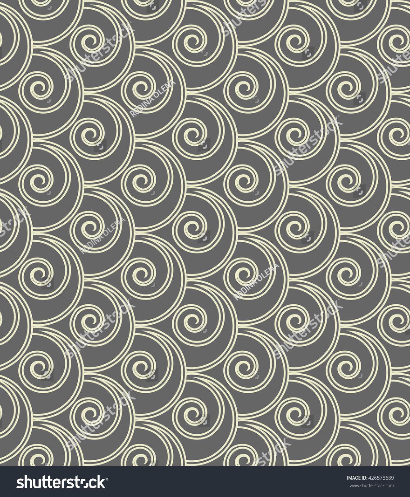 The Geometric Pattern With Circles And Lines Seamless Background Gray