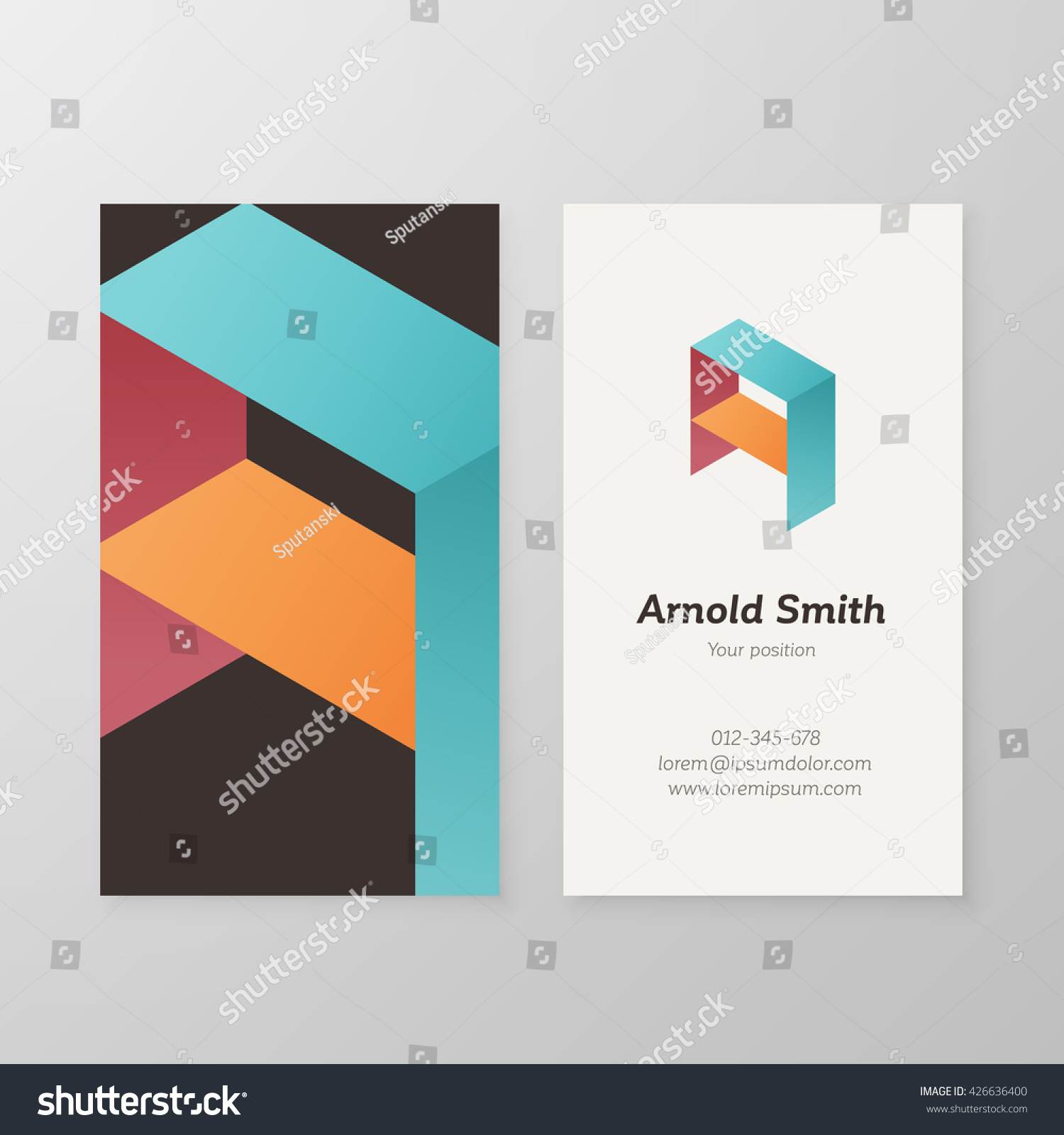 Vector graphic design business logo - Business Card Isometric Logo Letter A Vector Template Vector Business Card Personal Logo Sign Graphic
