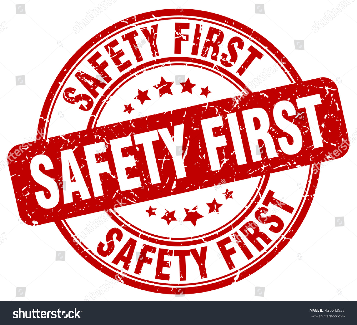 Safety First Stamp Stock Vector Royalty Free 426643933