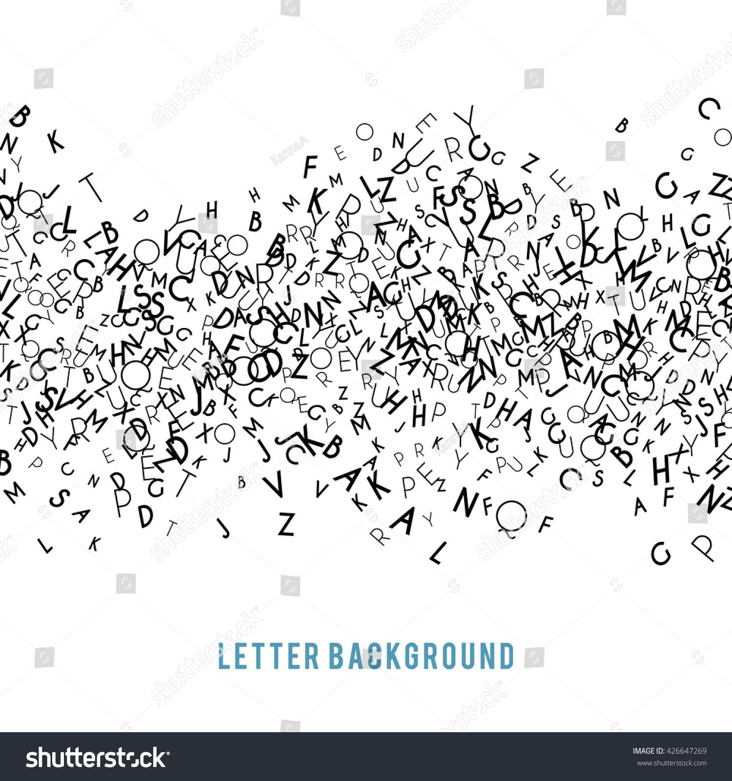 abstract black alphabet ornament border isolated stock illustration