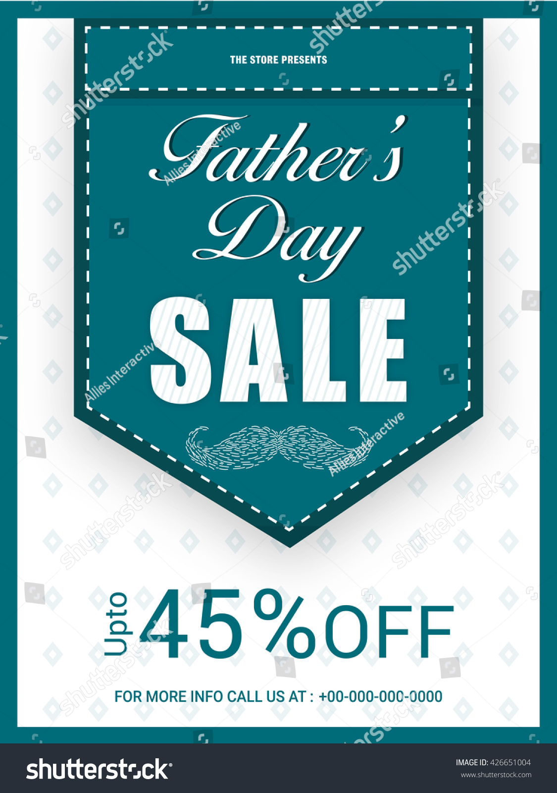 c36f29774149d Fathers Day Sale Template Sale Banner Stock Vector (Royalty Free ...