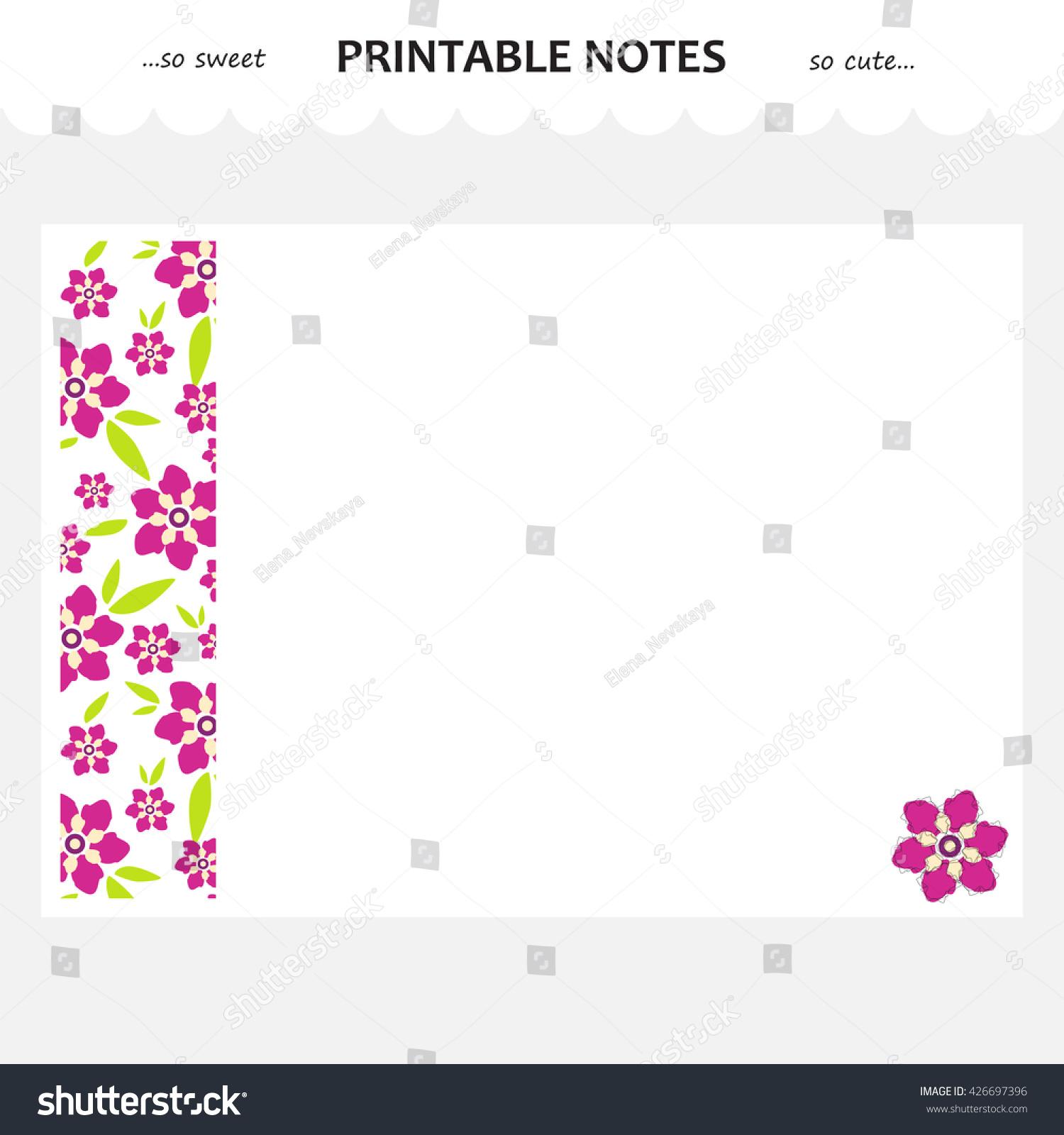 Vector Design Set Printable Paper Beautiful Vector 426697396 – Diary Paper Printable