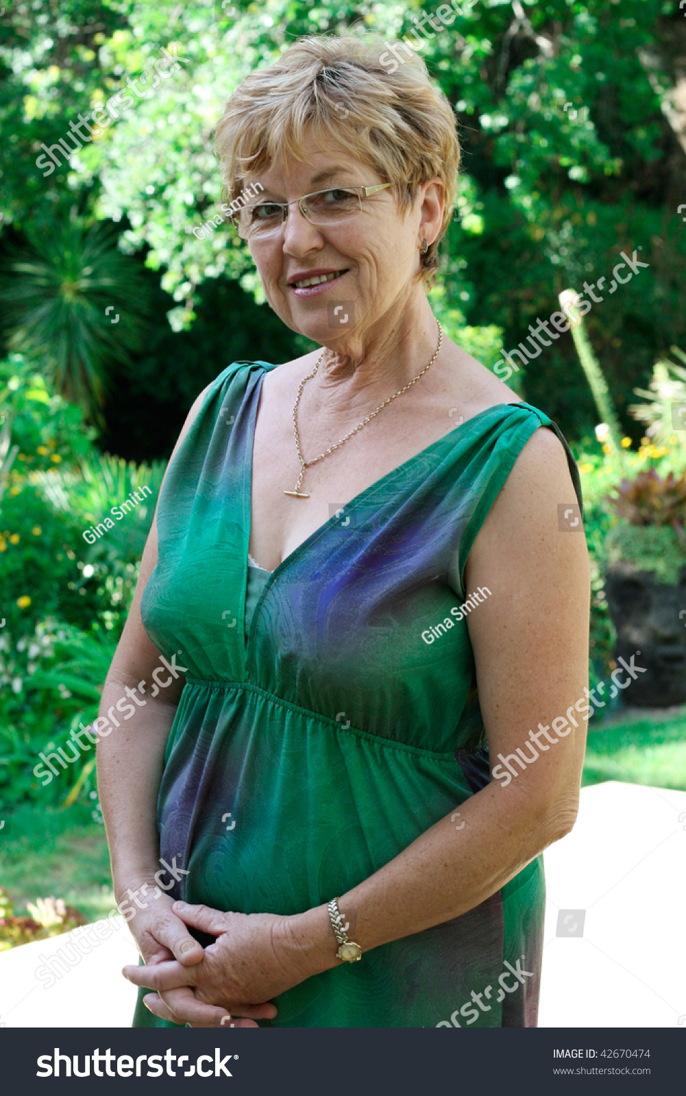portrait attractive mature woman her 50s stock photo (edit now