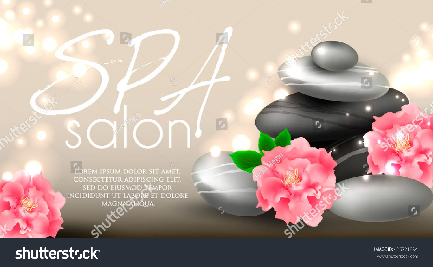Vector Gift Voucher Template Lotus Lily Stock Vector 426721894 ...
