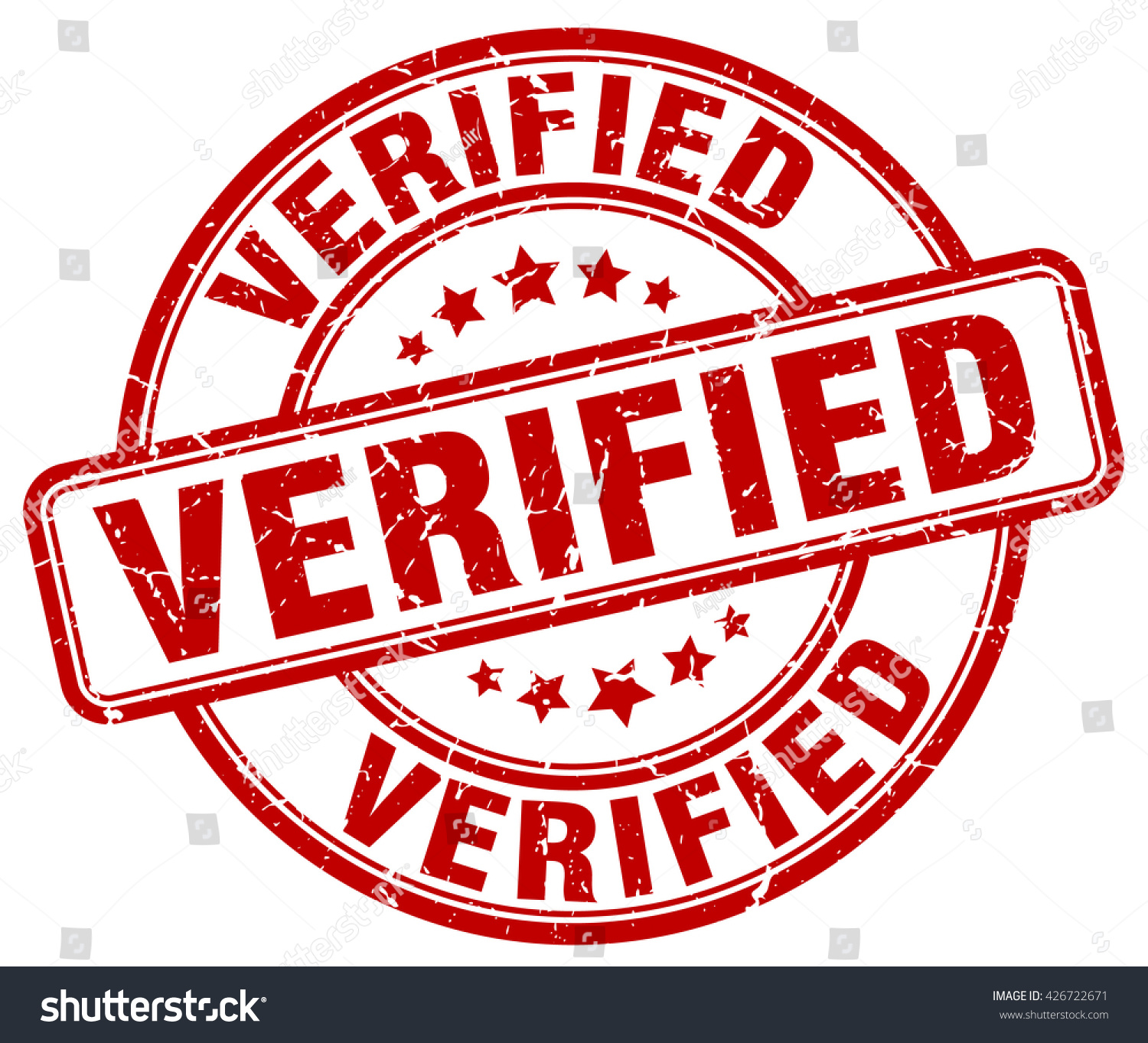 Verified Stamp Stock Vector 426722671