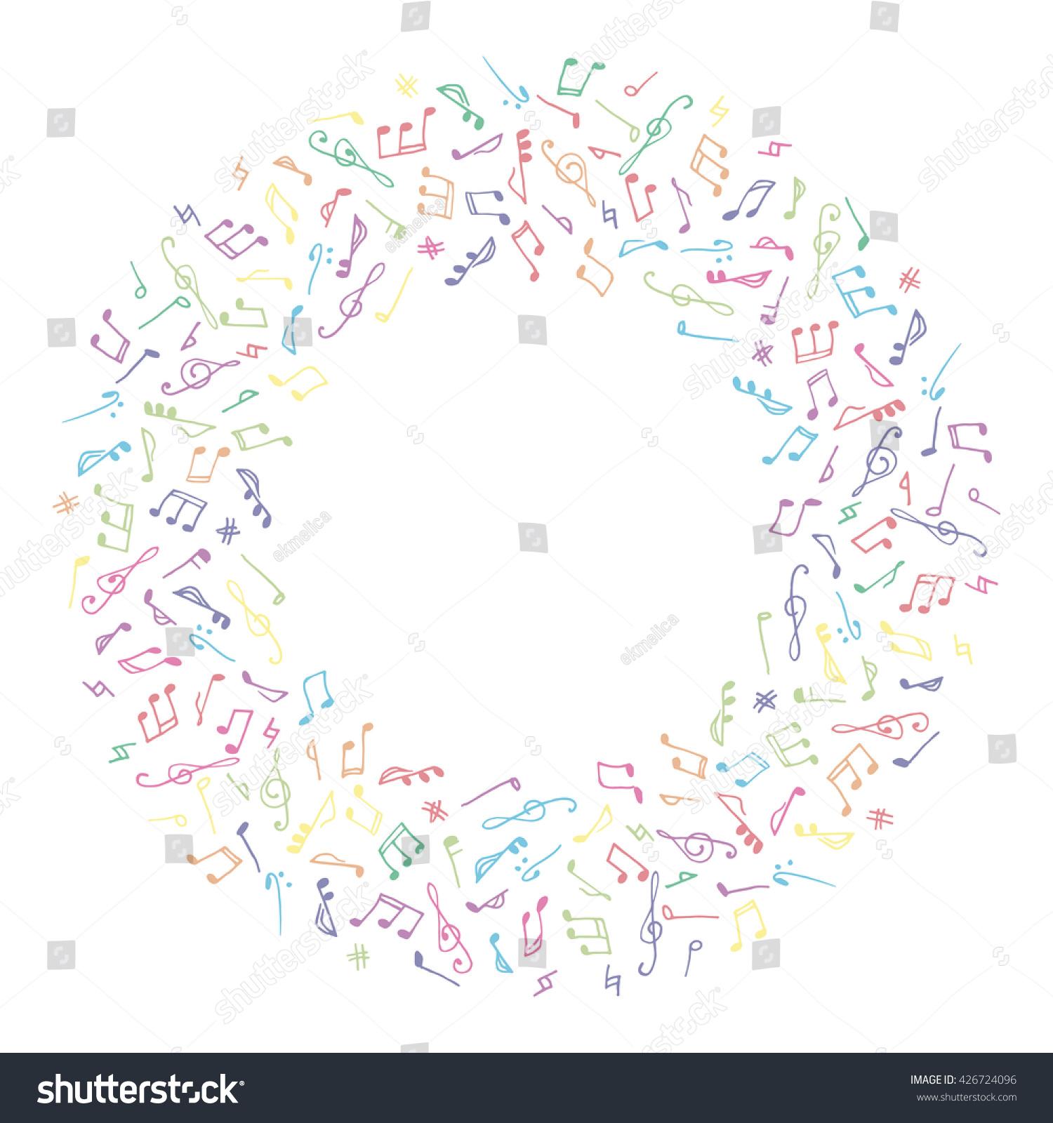 Circle Music Frame Doodle Style On Stock Illustration 426724096 ...