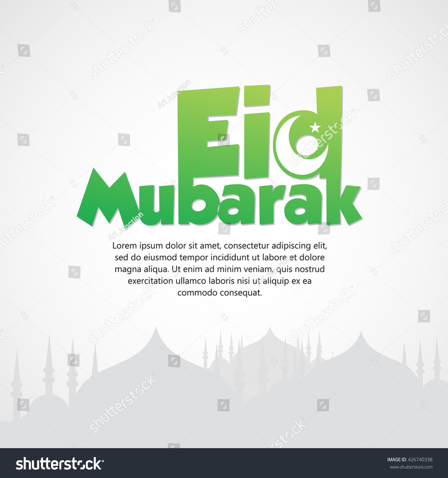 Beautiful eid mubarak card design nice stock vector 426740338 beautiful eid mubarak card design with nice colorful mosque and black background eps 10 kristyandbryce Choice Image
