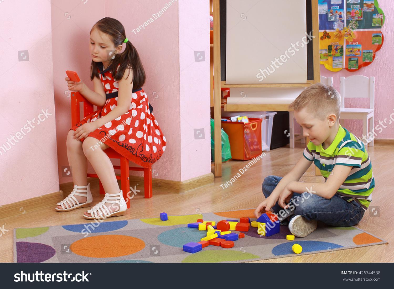 In the kindergarten The corner of solitude in the group