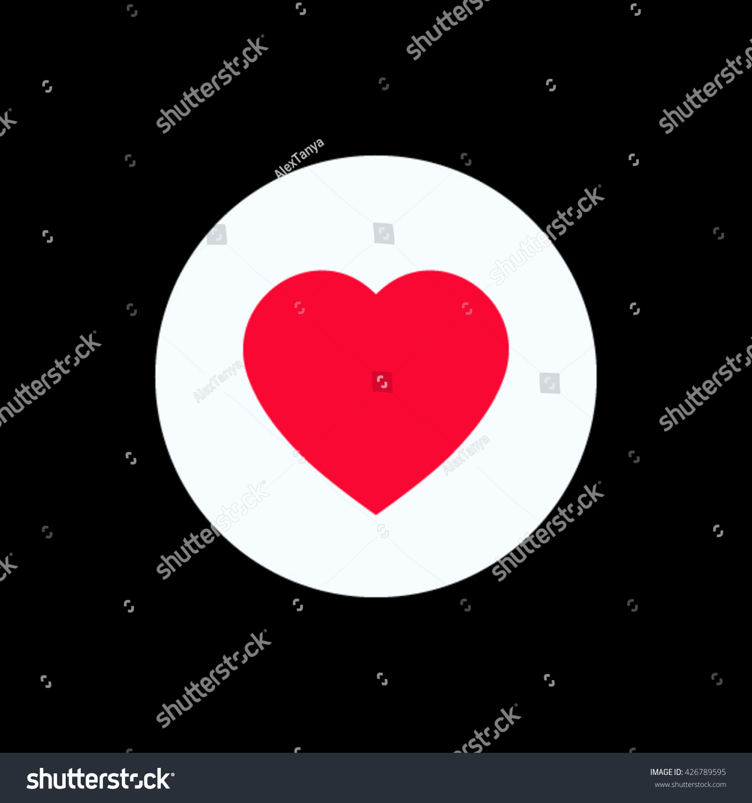 Vector flat red heart icon white stock vector 426789595 shutterstock vector flat red heart icon in white circle symbol for logo design icon for buycottarizona