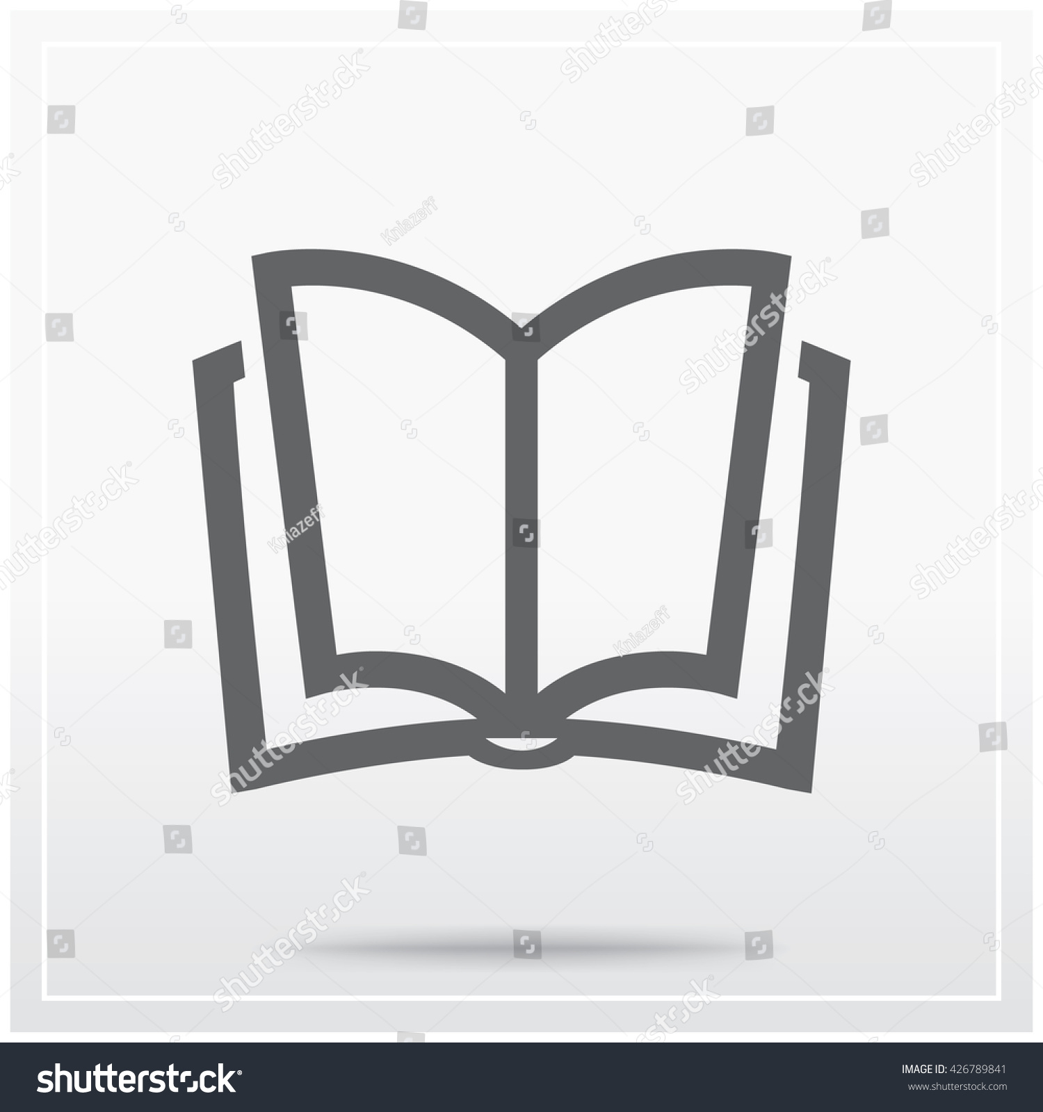 Book Symbol Education Libraries Text Sources Stock Vector Royalty