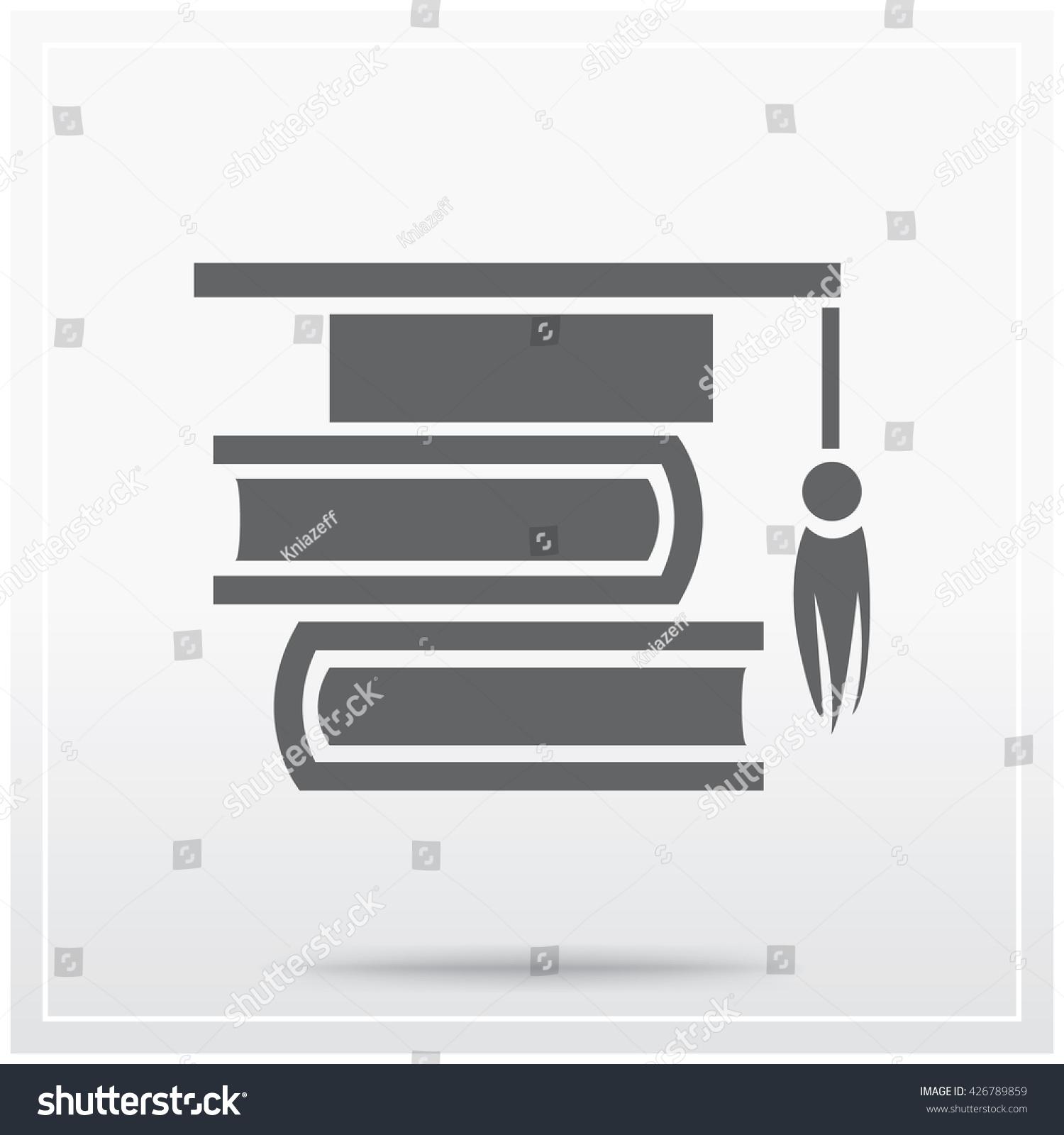 Books Graduation Cap Symbol Education Learning Stock Vector Royalty