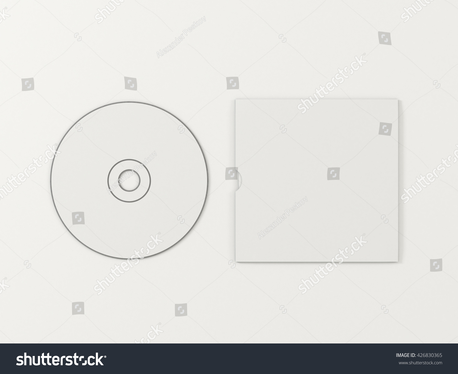 Cd Disc Carton Packaging Cover Template Stock Illustration 426830365 ...