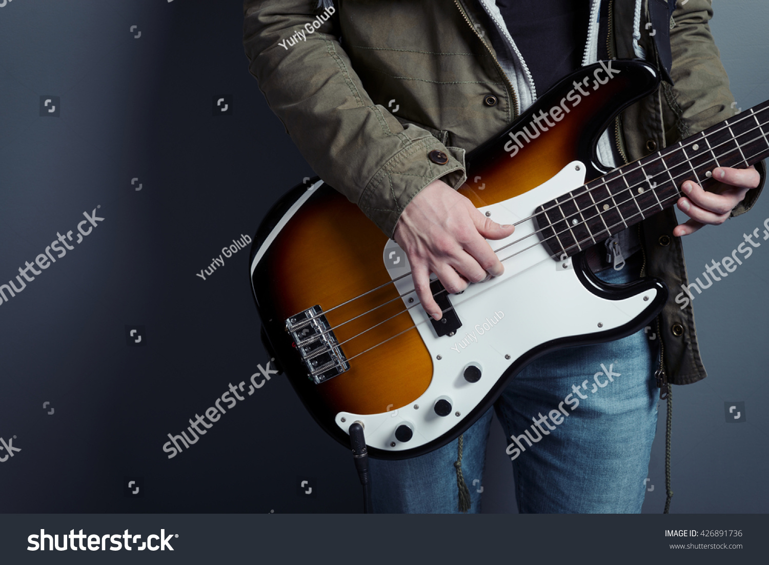 Male Fingers Holding Chords Produce Proper Stock Photo Edit Now
