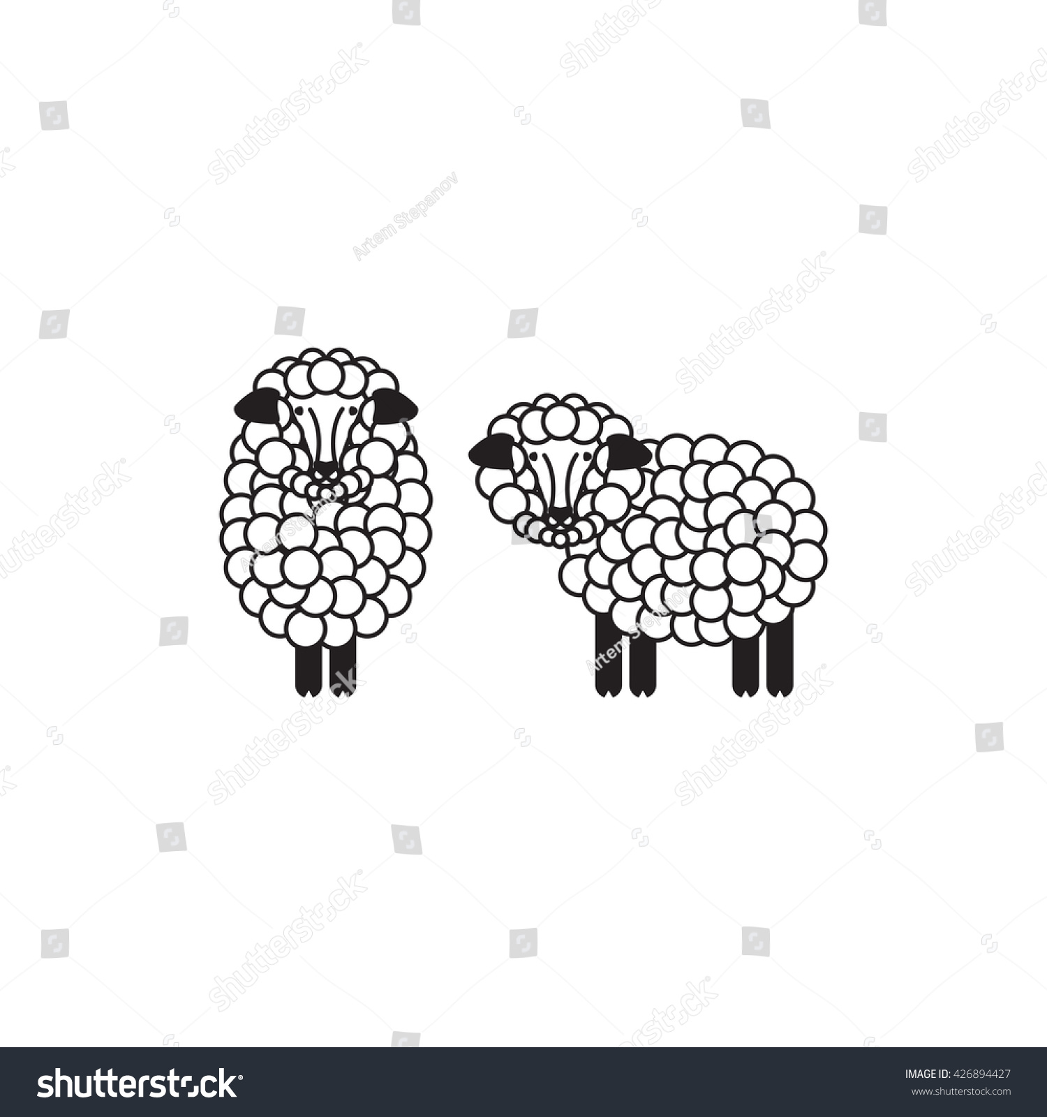 Vector Sheep Ram Icon Sheep Logo Stock Vector 426894427 - Shutterstock