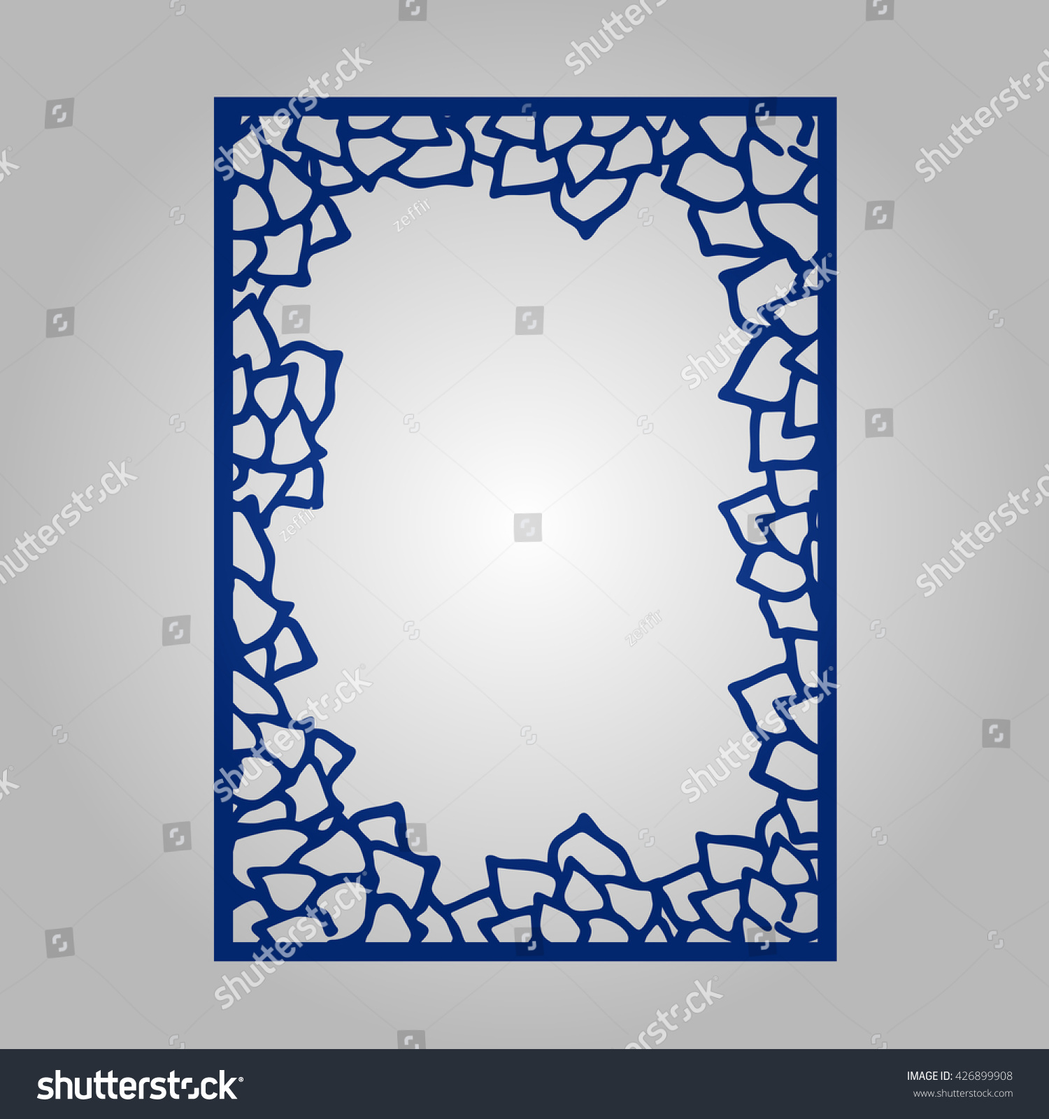 Abstract cutout panel laser cutting vector stock vector 426899908 abstract cutout panel for laser cutting vector filigree pattern for wedding invitation card photo stopboris Images