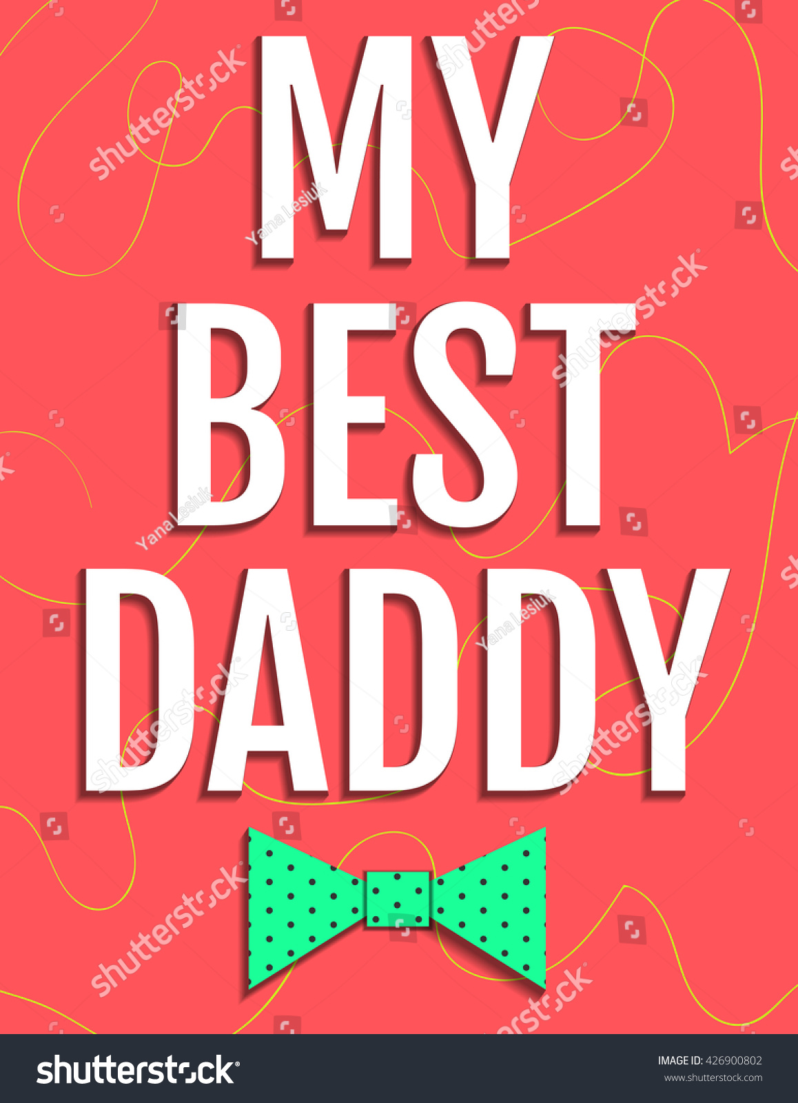 Happy Fathers Day Card My Best Stock Vector 426900802 Shutterstock