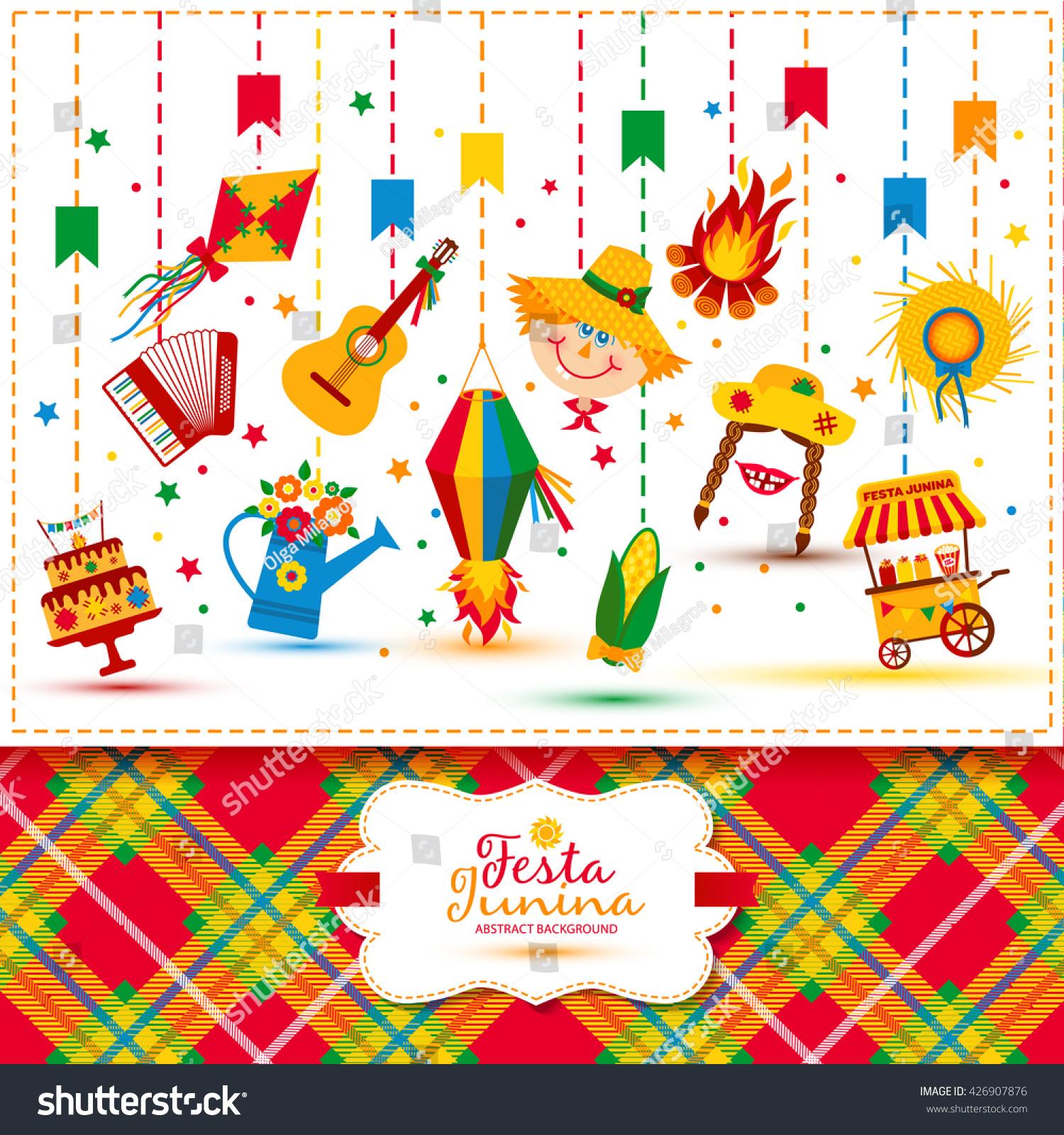 Festa Junina Village Festival Latin America Stock Vector ...