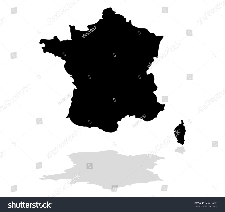 Map France 987.Map France Stock Illustration 426919684 Shutterstock