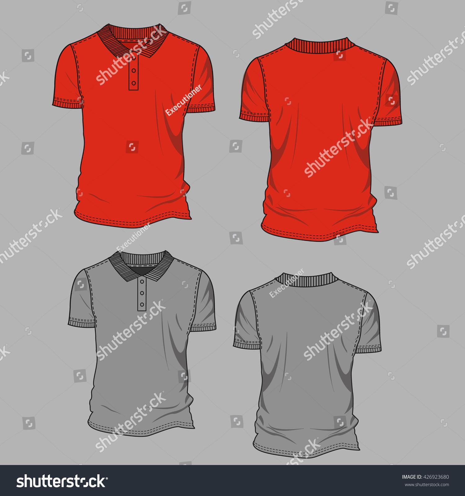 Vector Illustration Mens Womens Tshirt Front Stock Vector Royalty